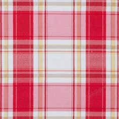 Red Haslemere Fabric