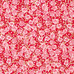 Red Floral Summersdale Fabric