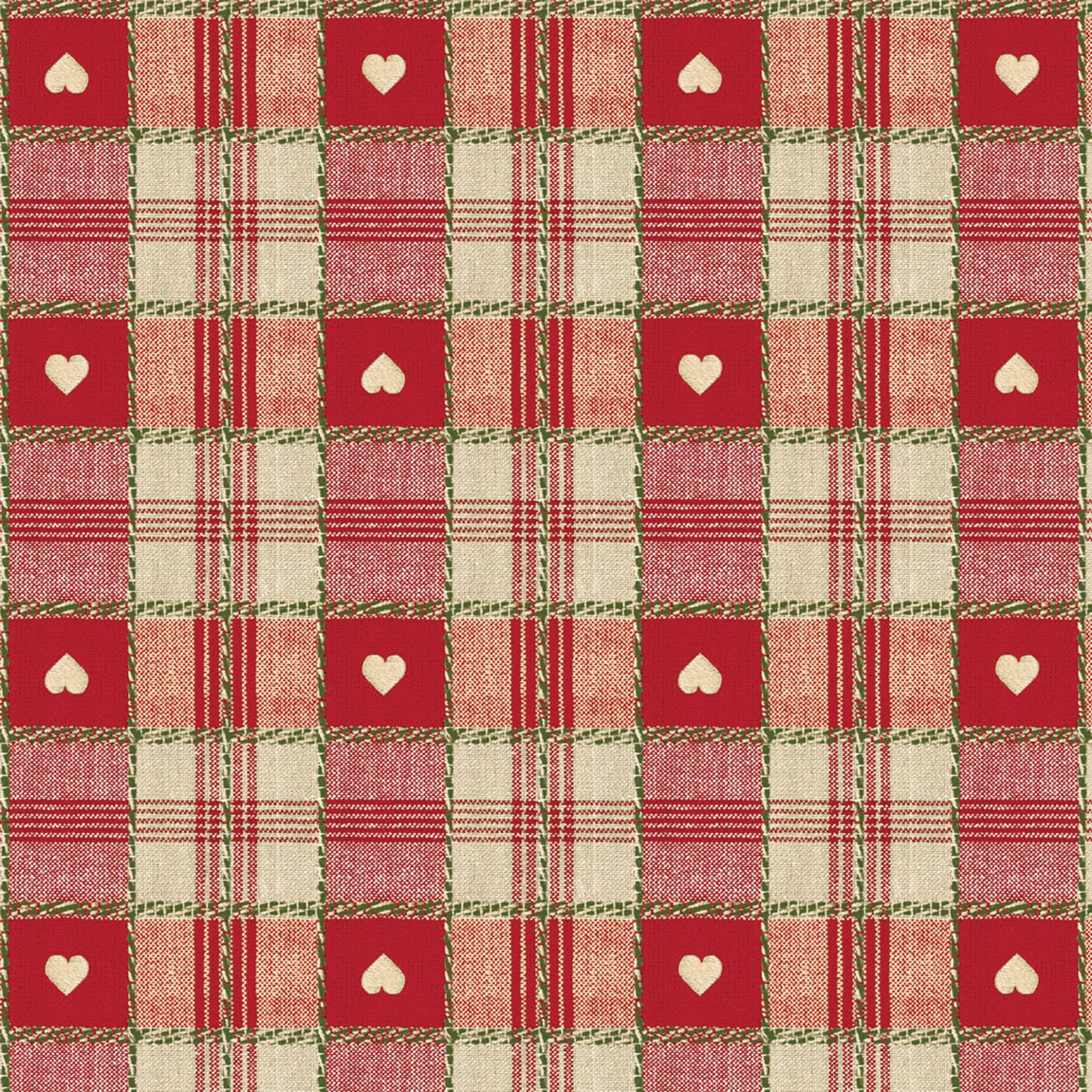 Red Hearts PVC Table Protector