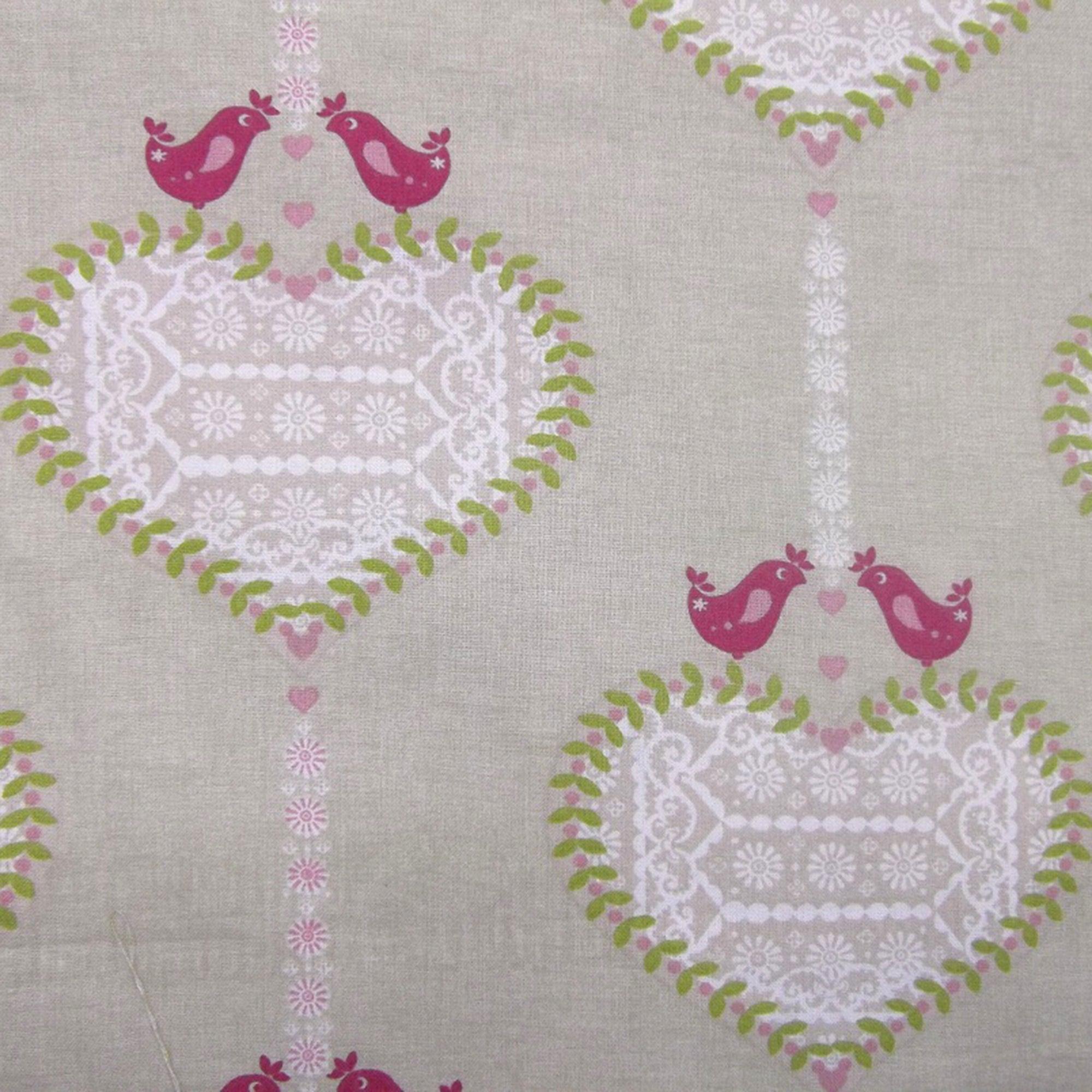 Pink Alhambra PVC Fabric