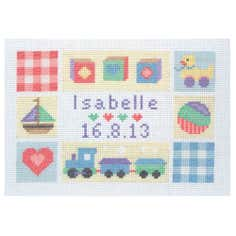 Anchor Cross Stitch Baby Sampler