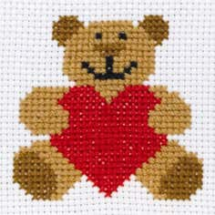 Anchor Kids Teddy Bear Cross Stitch Kit