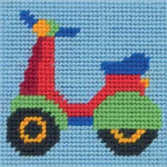 Anchor Kids Scooter Callie Cross Stitch Kit