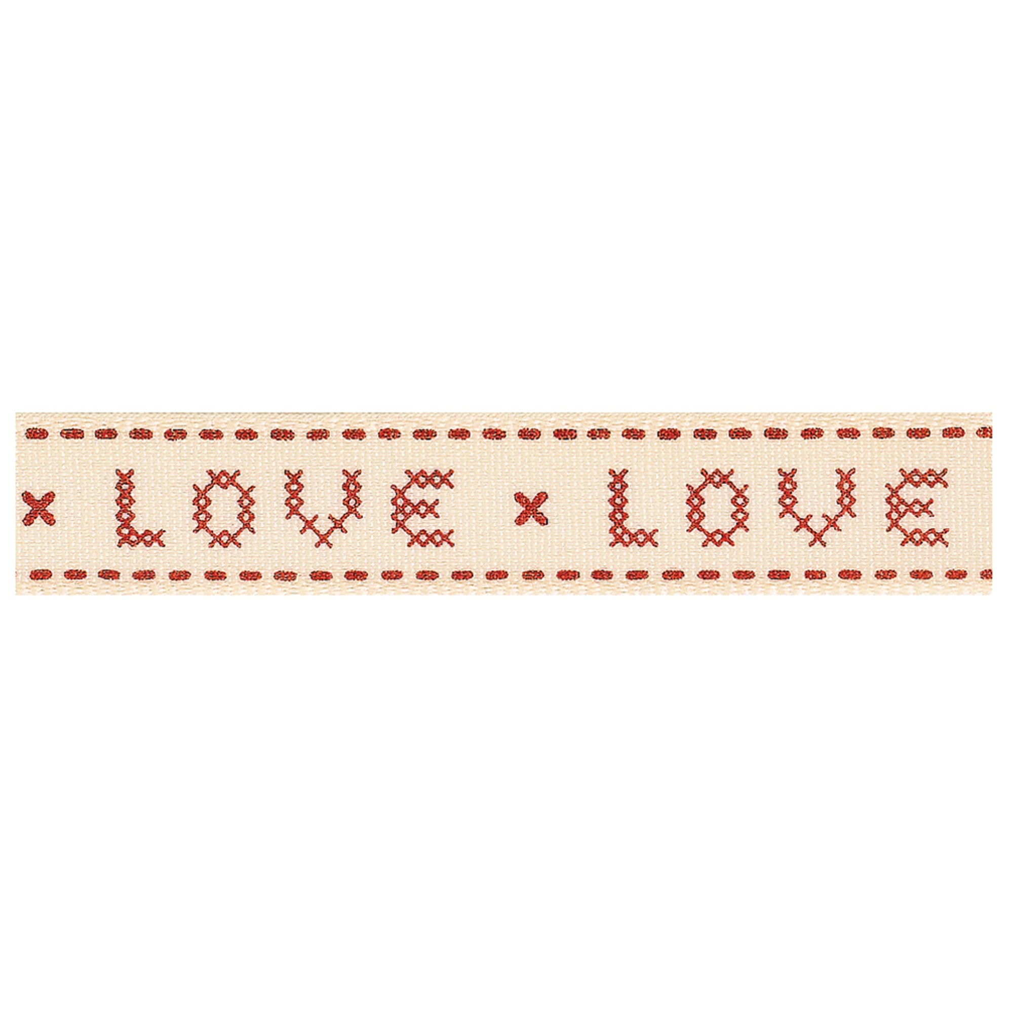 Cross Stitch Love Ribbon