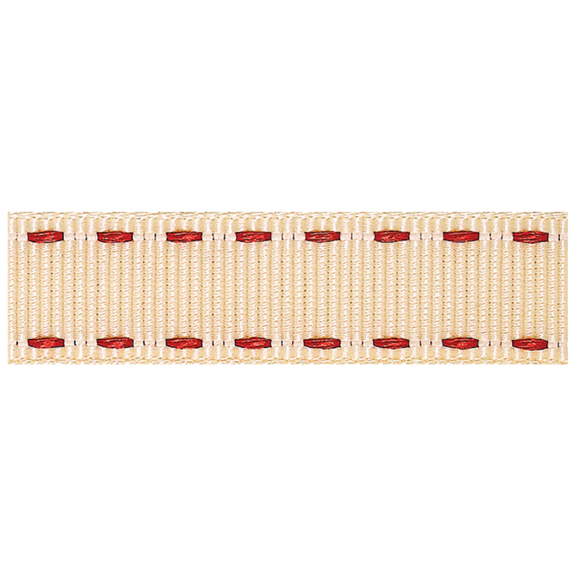 Red Stitched Grosgrain Ribbon