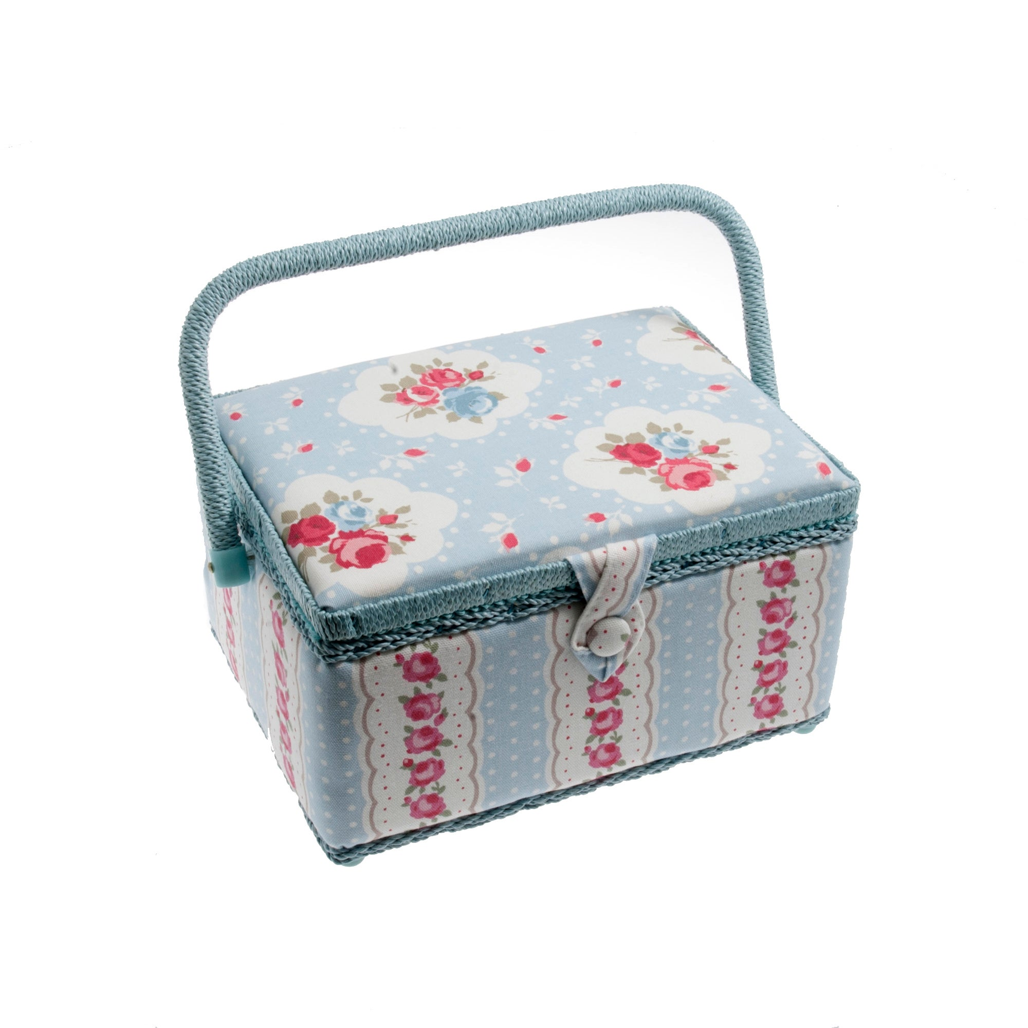 Blue Vintage Floral Sewing Basket