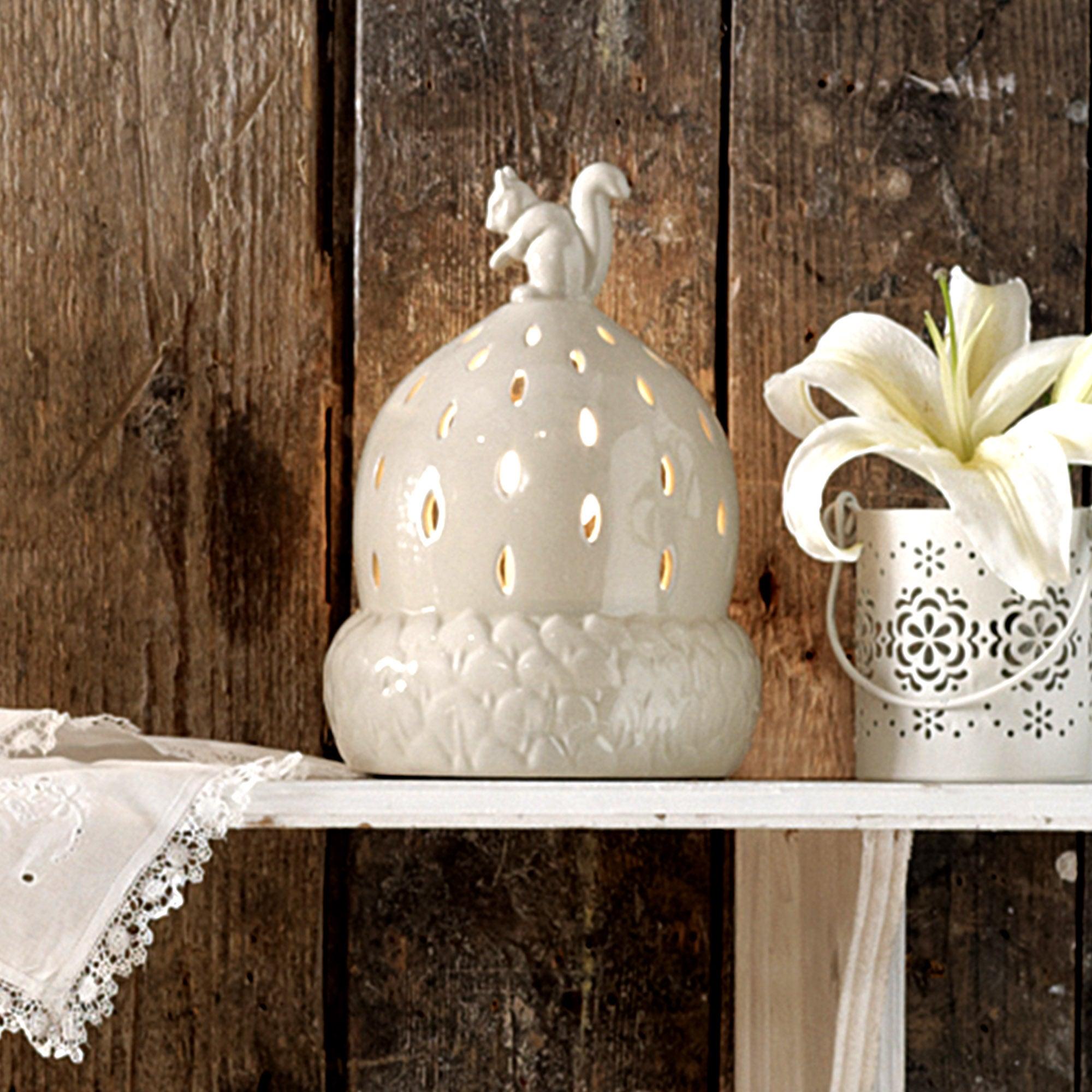 Acorn and Squirrel Ceramic Table Lamp
