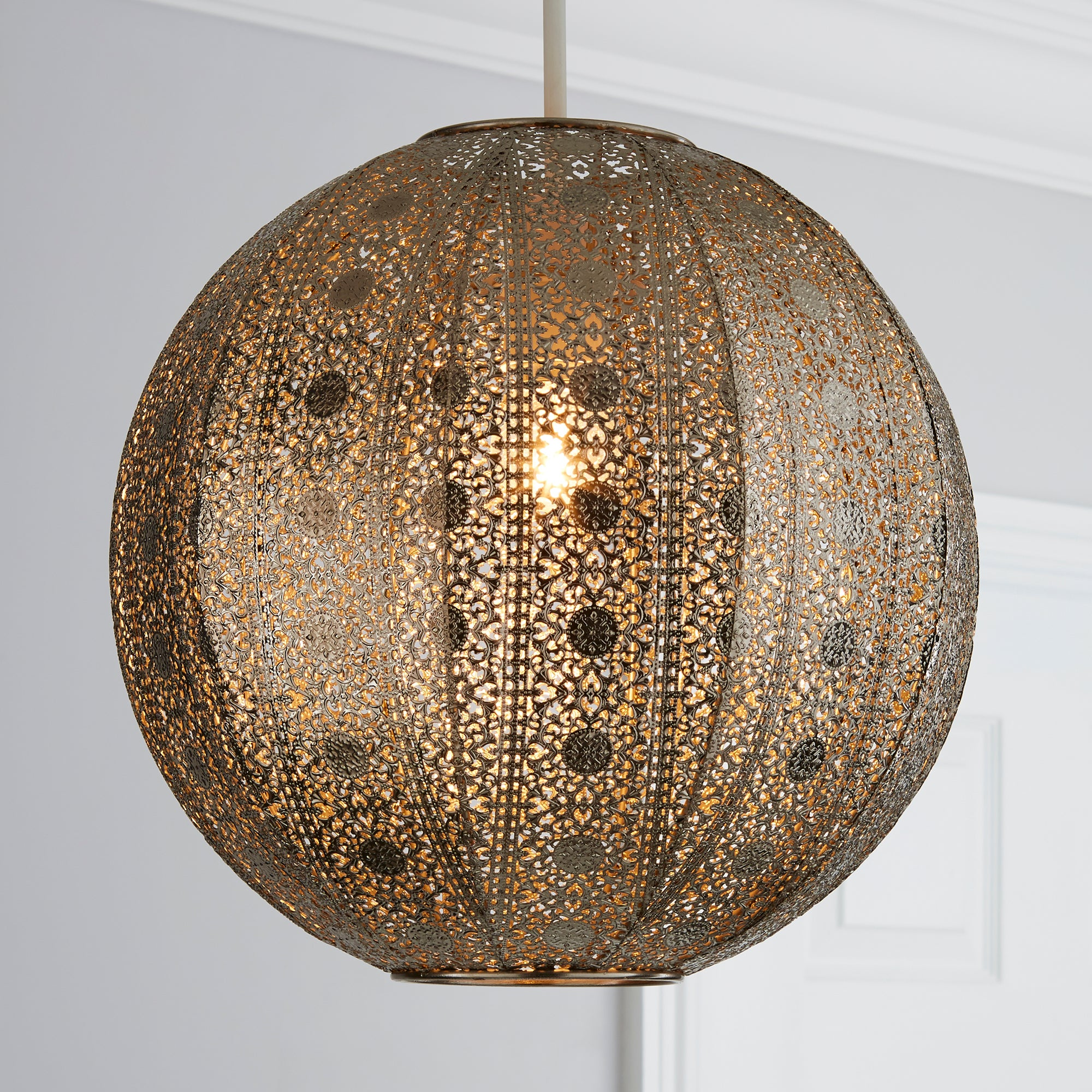 Copper Aria Lace Ball Pendant Shade