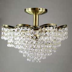 Bree Antique Brass Ceiling Light Fitting