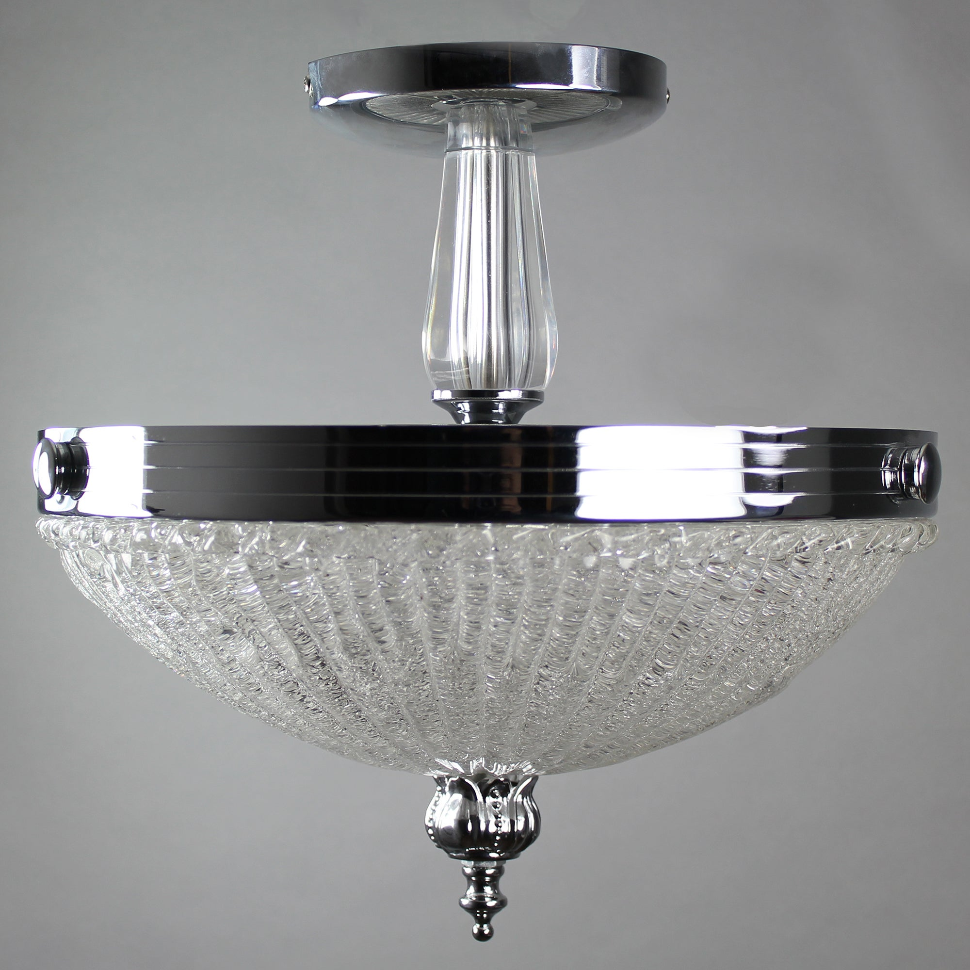 Marble Bowl Frost Fitting Chrome