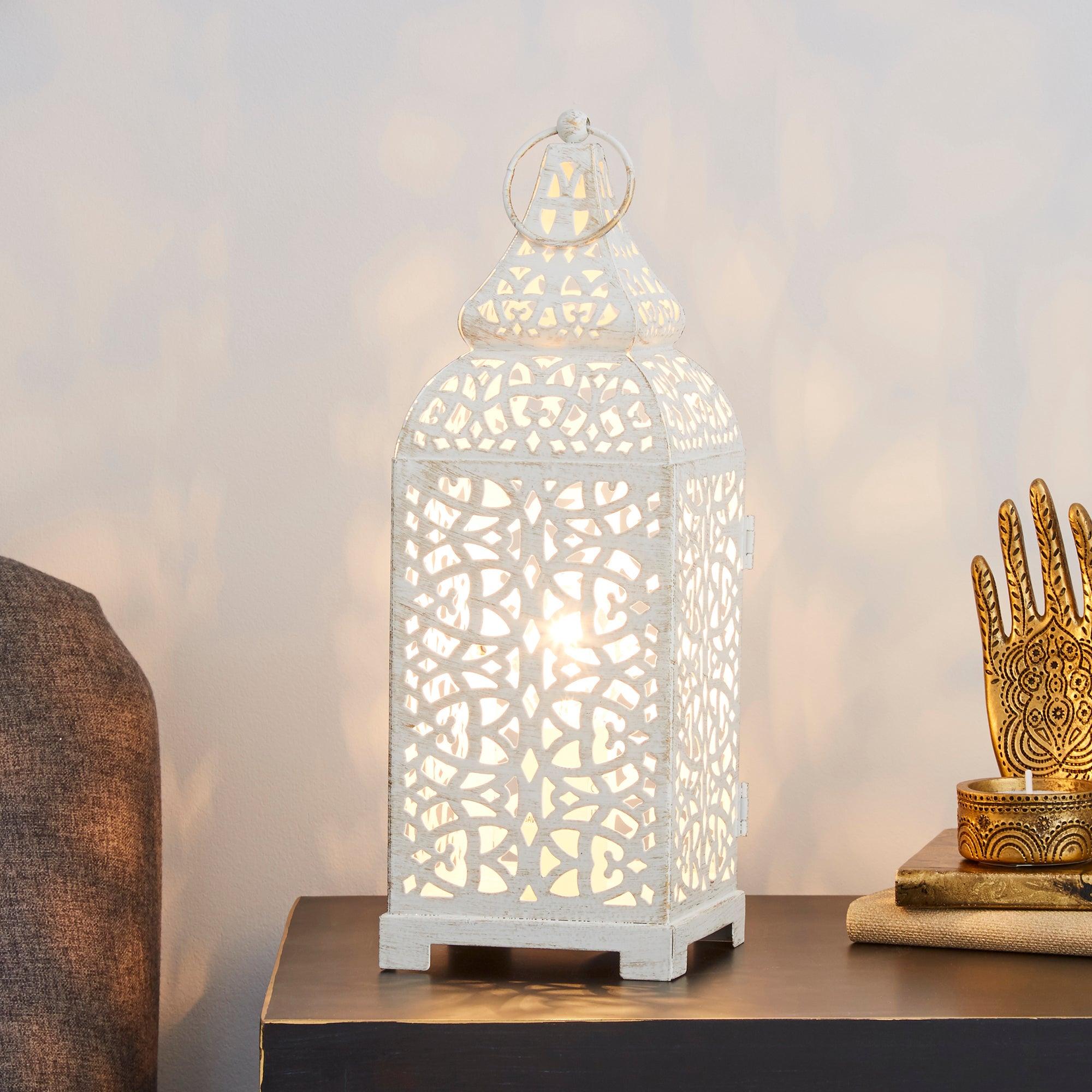 moroccan lantern table lamp dunelm. Black Bedroom Furniture Sets. Home Design Ideas
