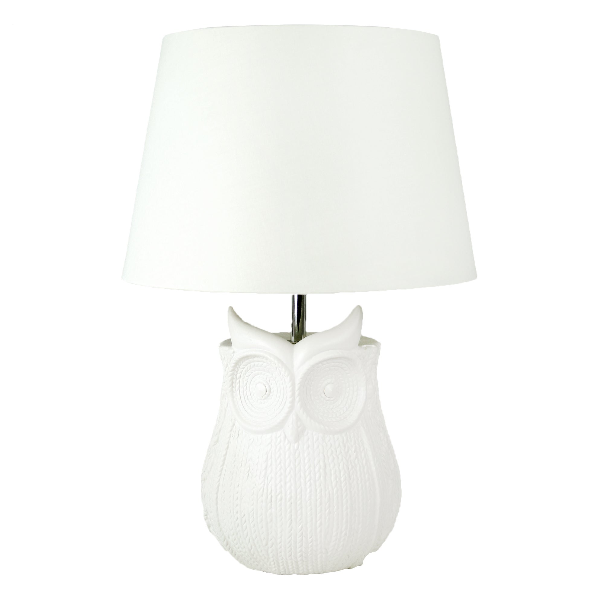 Owl Woven Textured Table Lamp