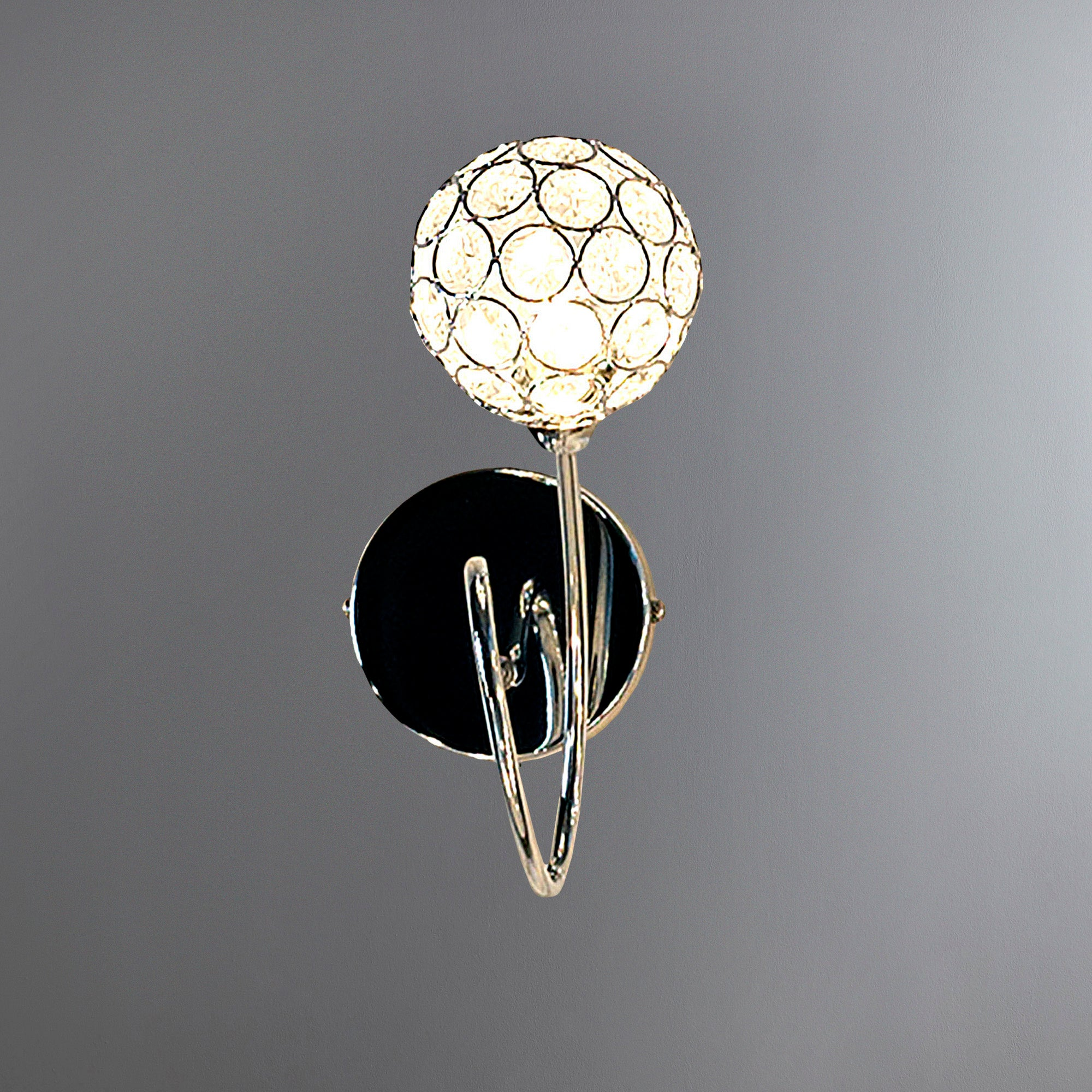 Sphere One Light Chrome Wall Fitting