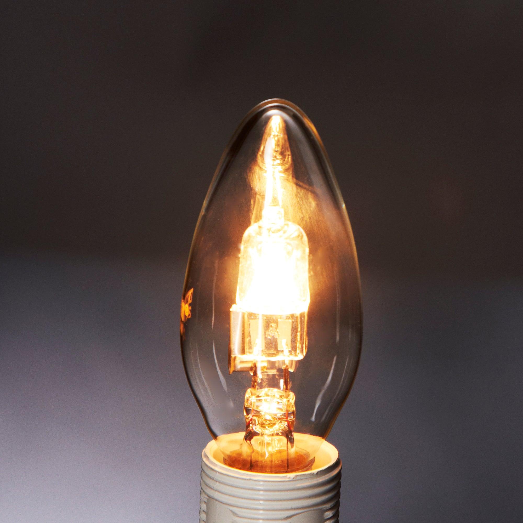 Status Halogen Eco 18 Watt SES Candle Bulb