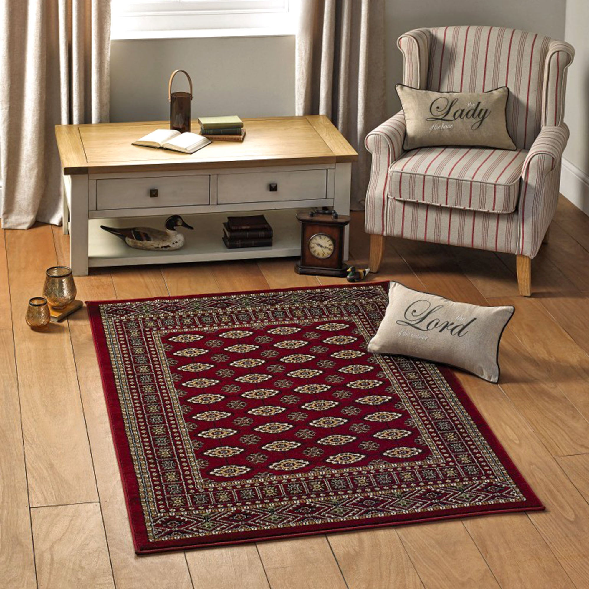 Red Bokhara Rug