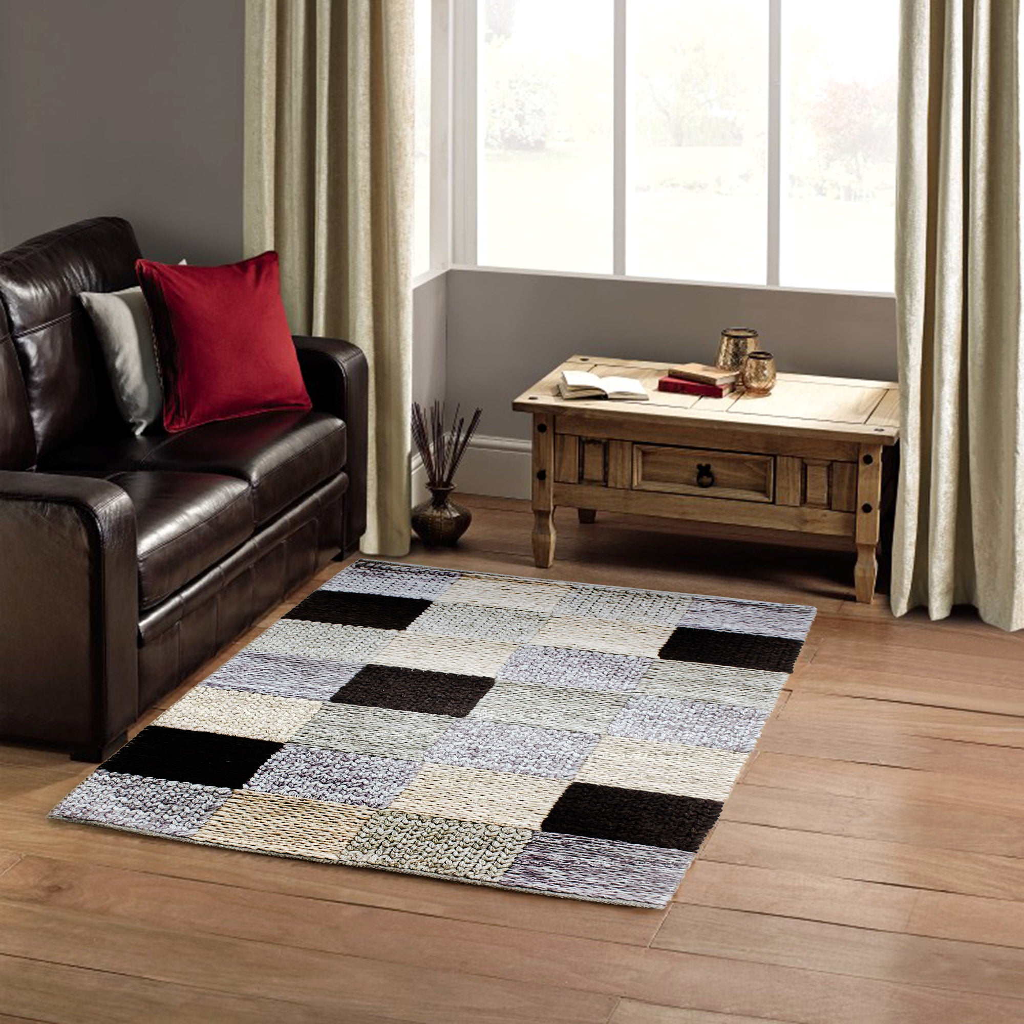 Cable Knit Wool Rug