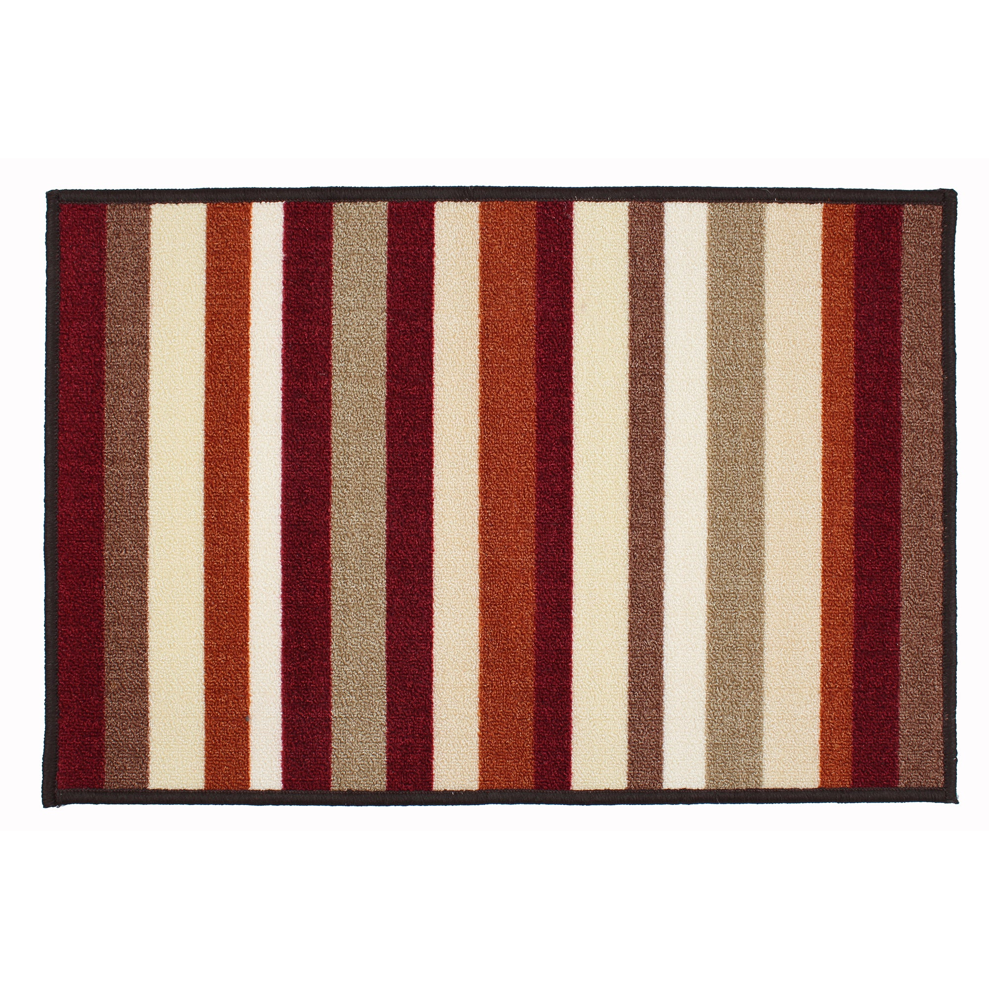 Rust Striped Washable Doormat