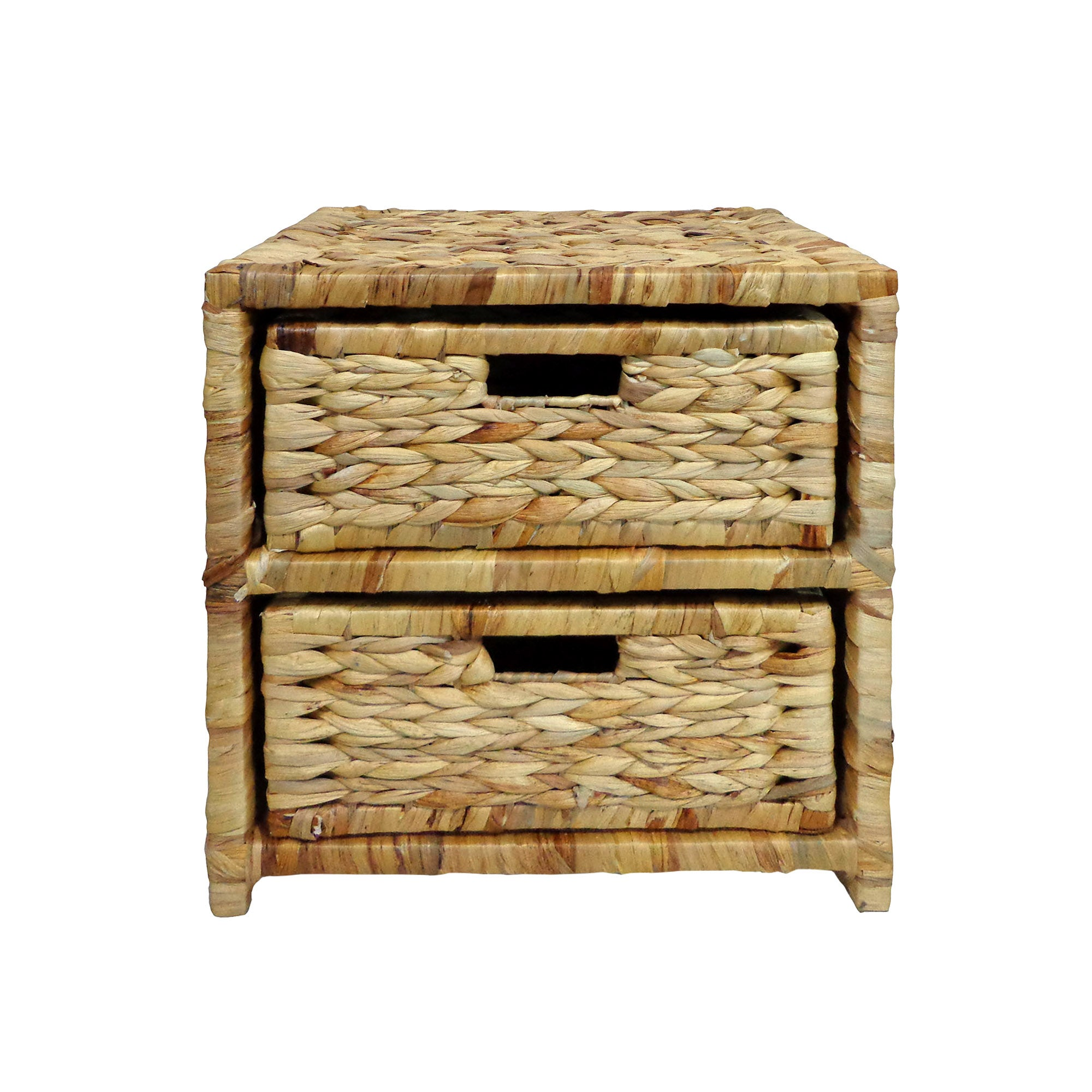 Water Hyacinth Two Drawer Tower
