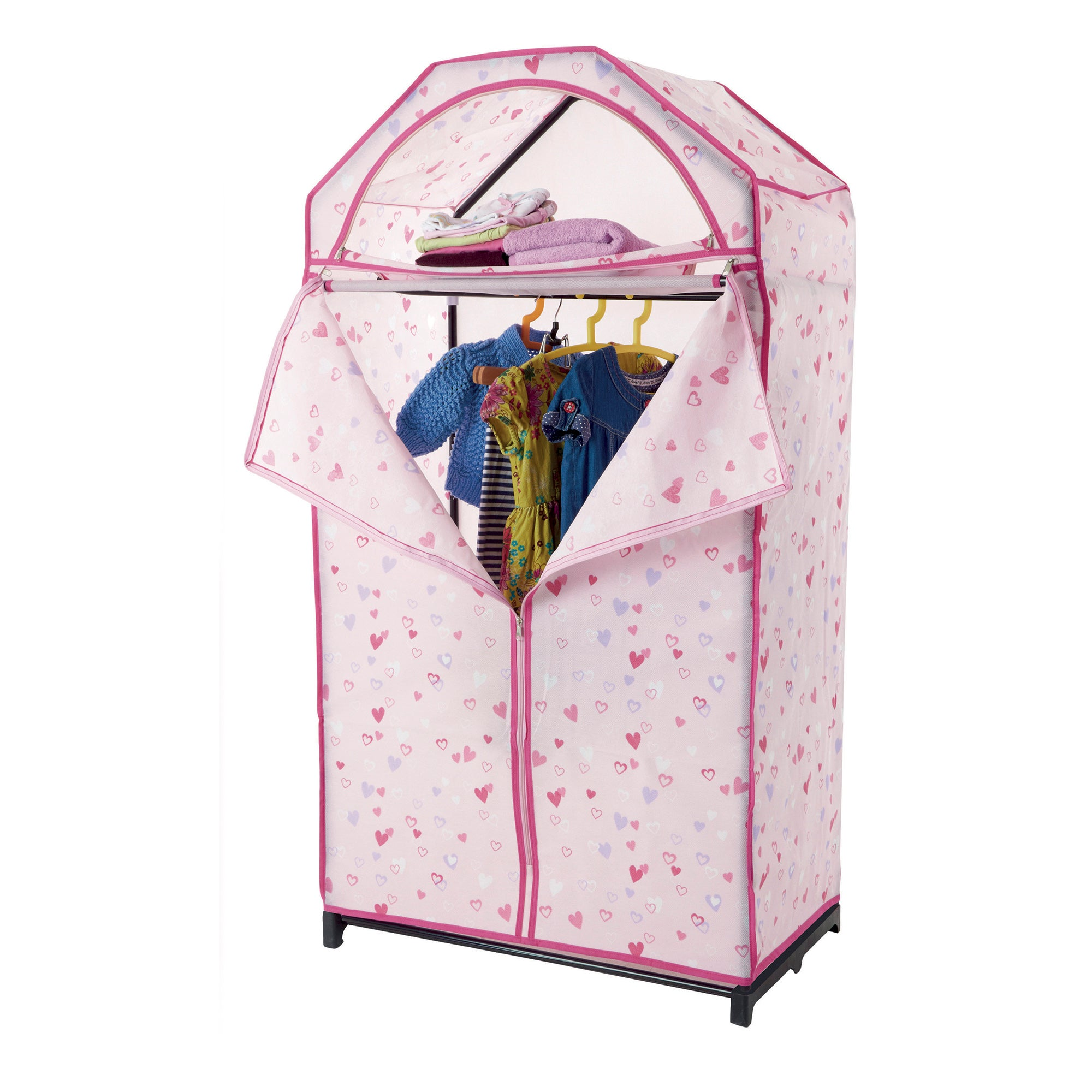Kids Pink Hearts Wardrobe