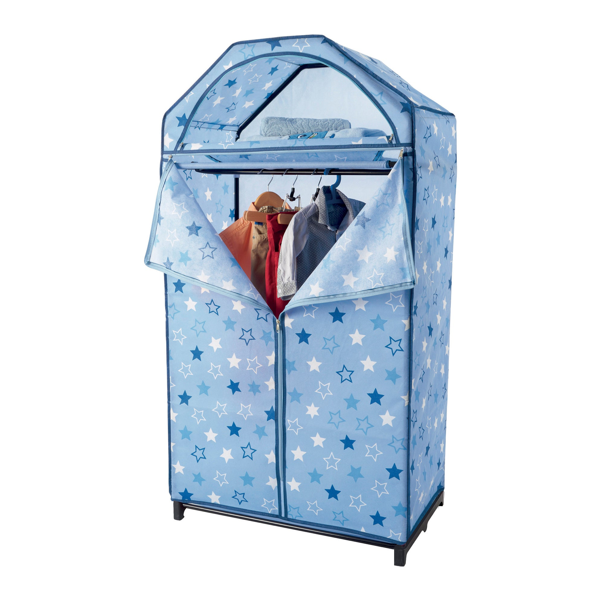 Kids Blue Stars Wardrobe