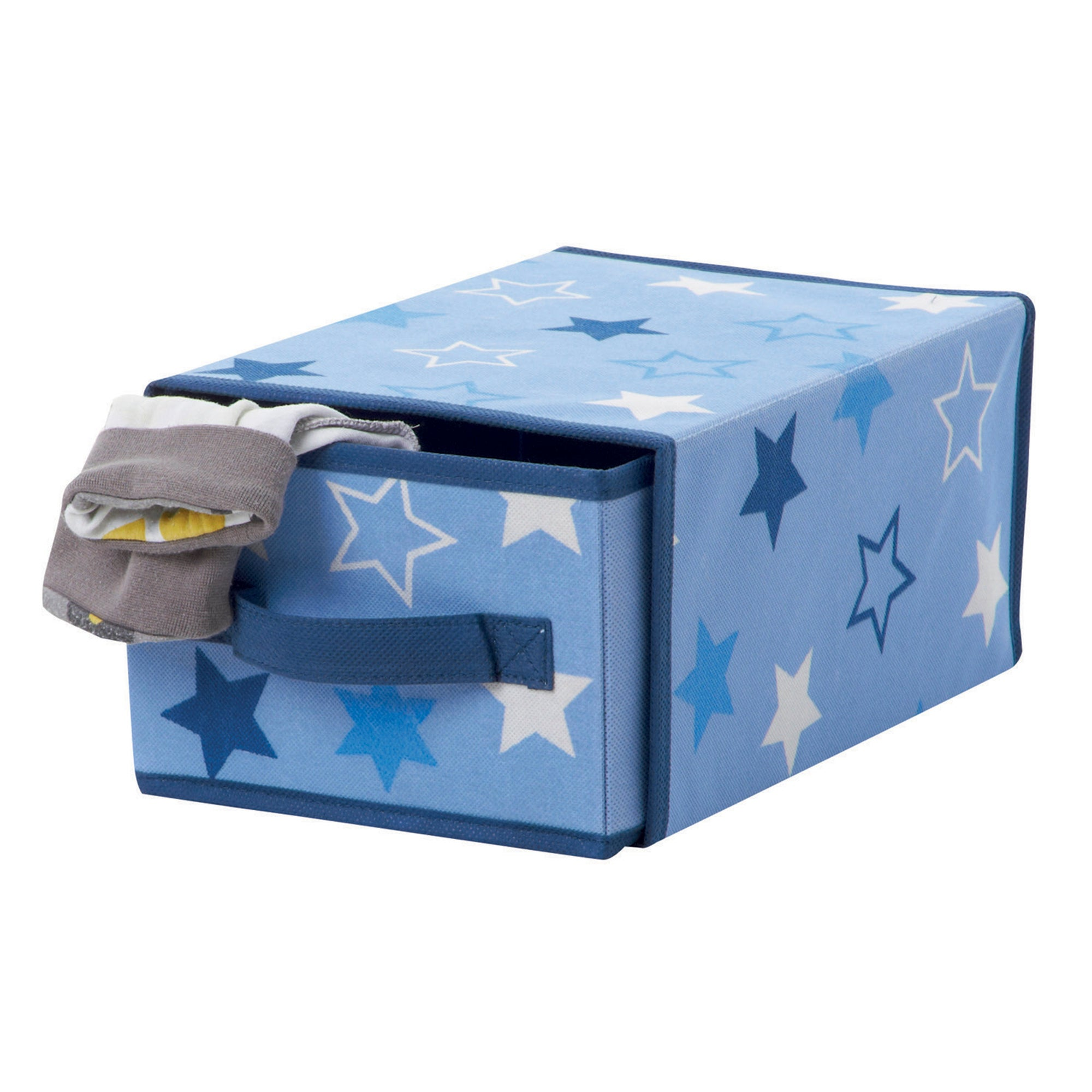 Blue Stars Single Drawer Storage Box