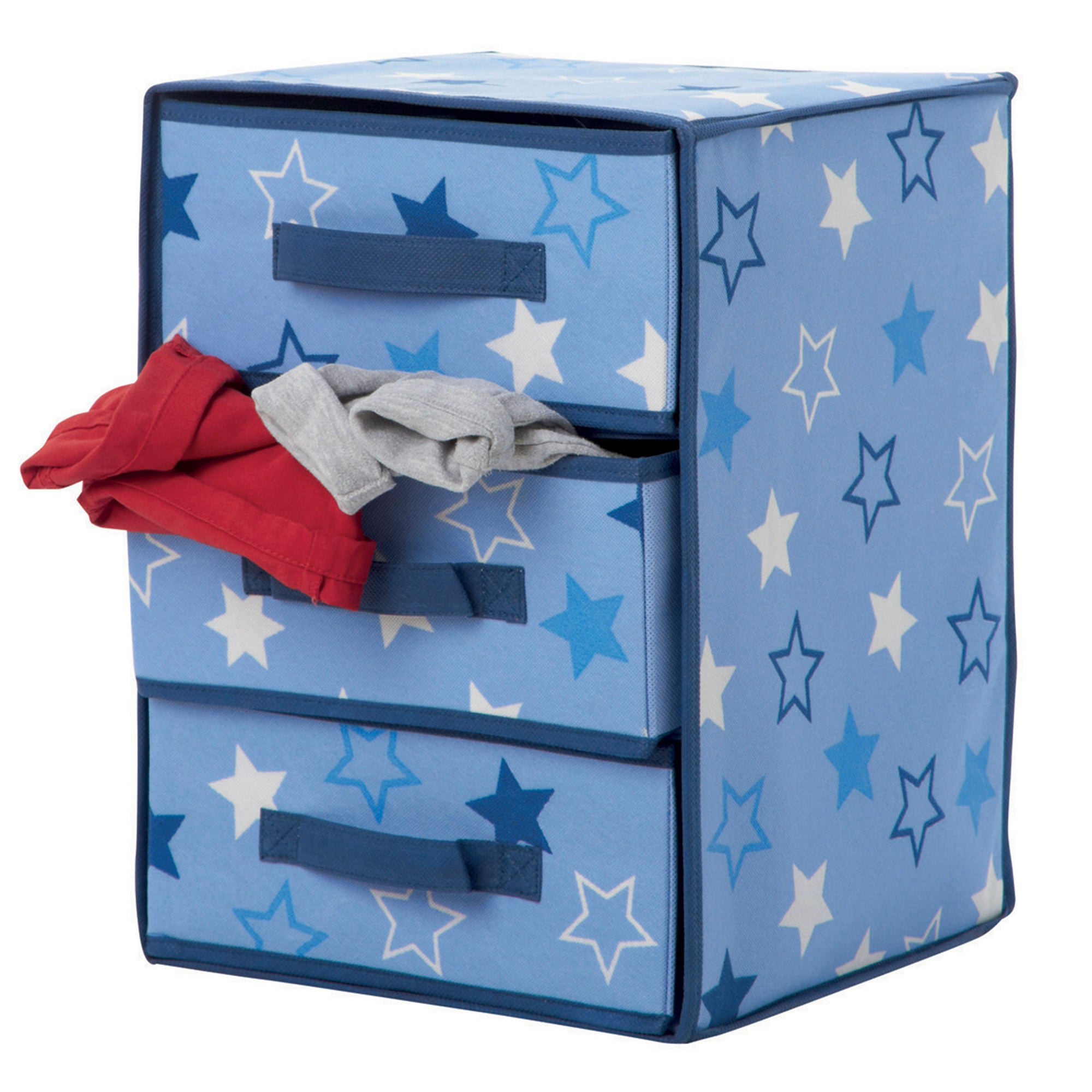 Kids Stars 3 Drawer Jumbo Storage Box