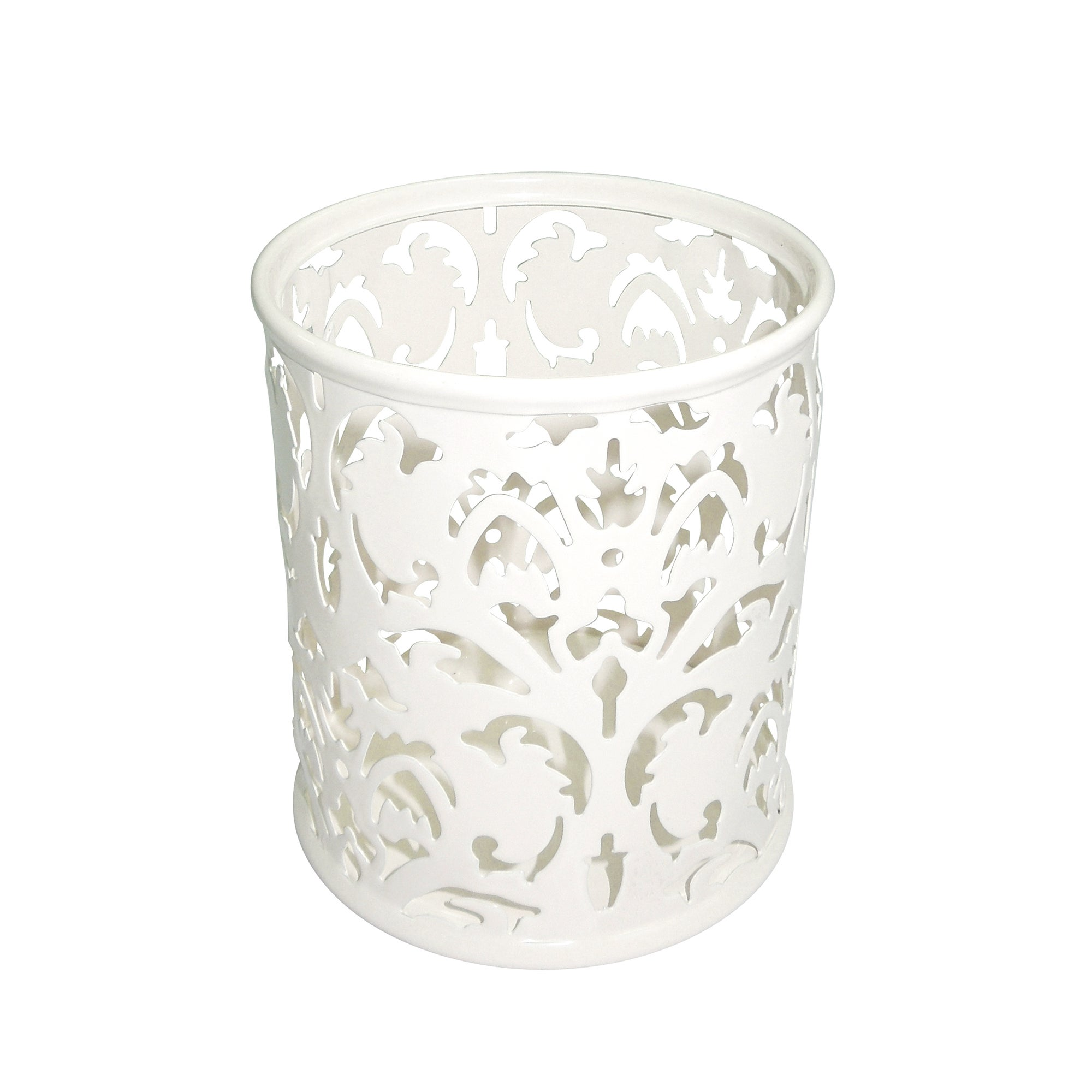 Cream Floral Collection Pen Holder