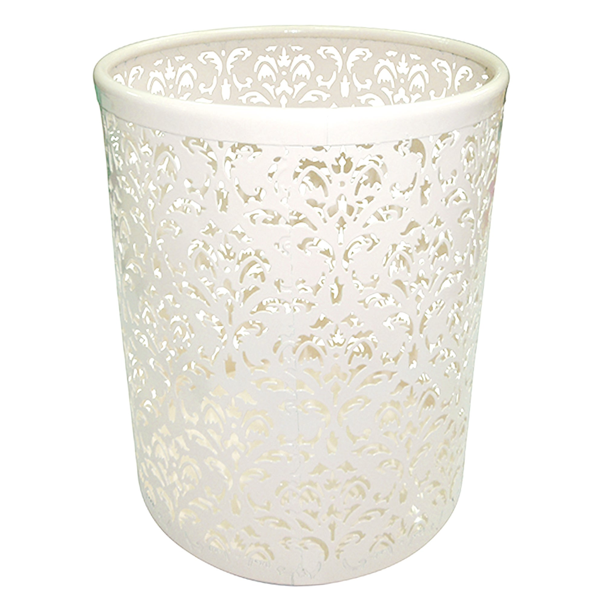 Cream Flower Collection Waste Bin