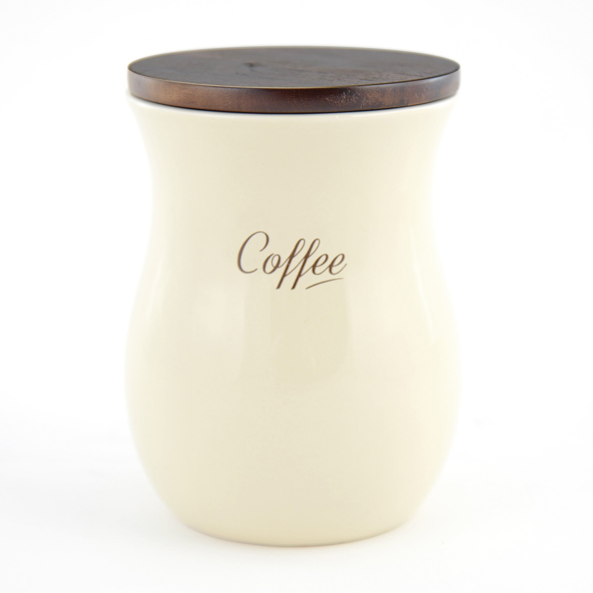 Hourglass Cream Coffee Canister