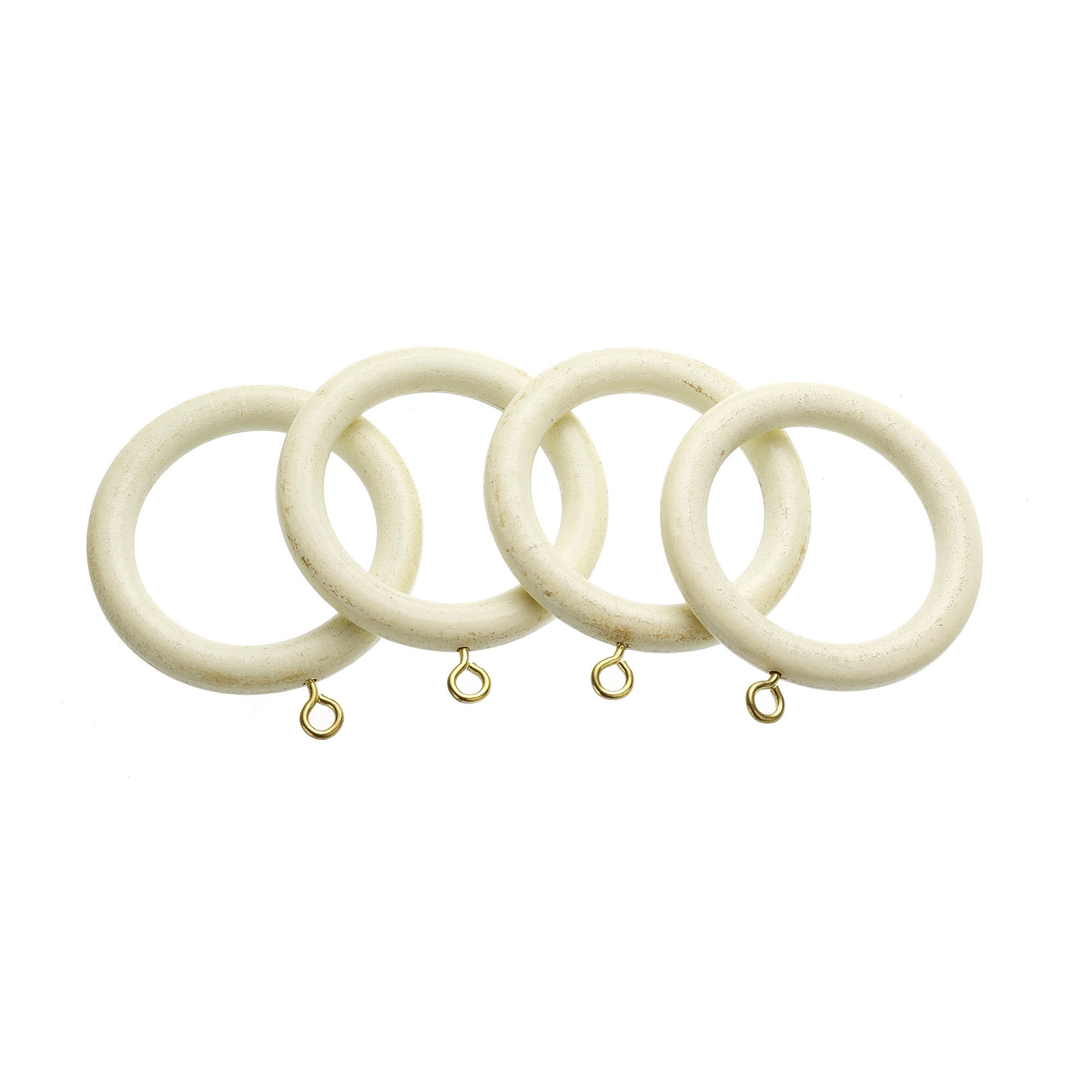 Antique White Swish Cambridge Collection Pack of 4 Curtain Rings