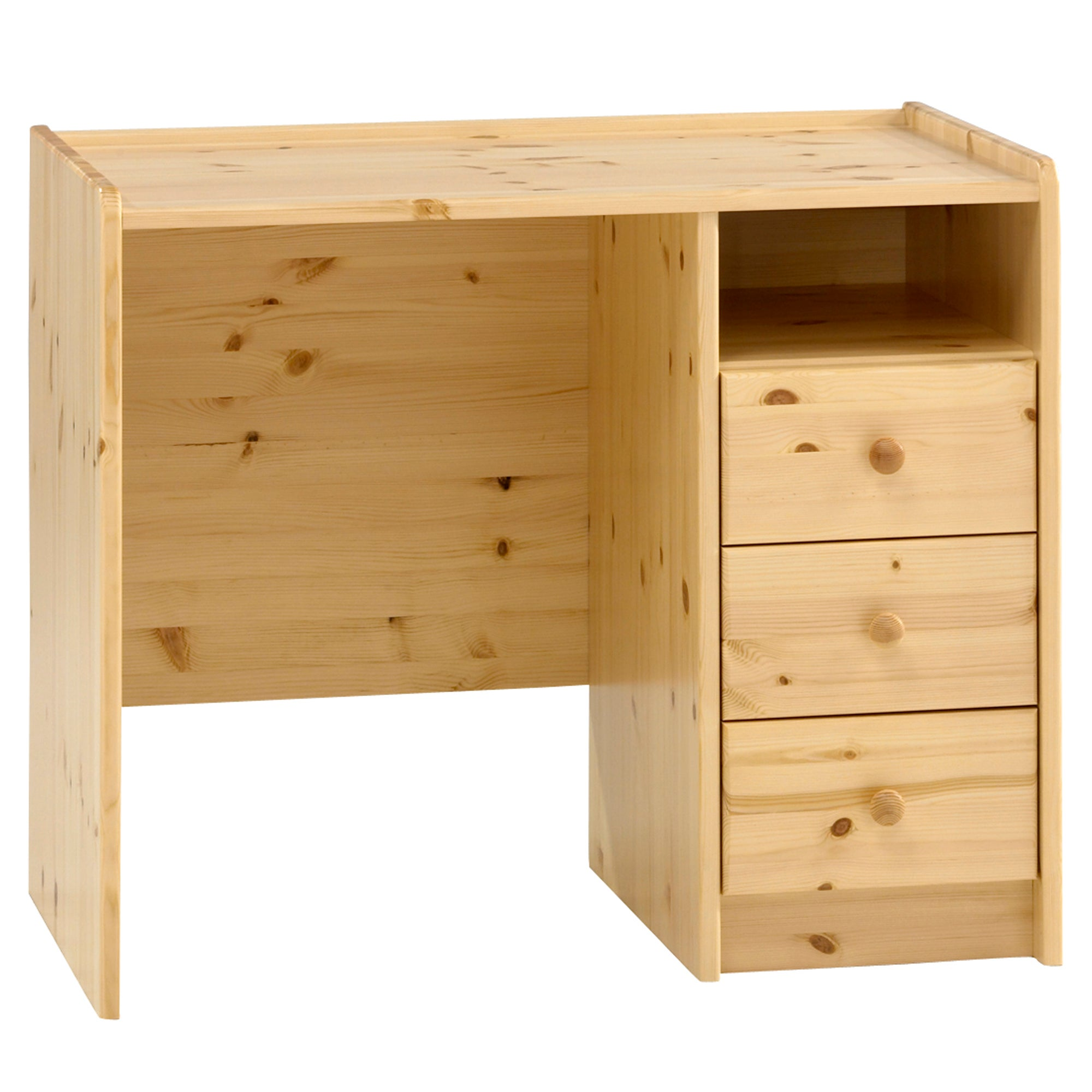 Kids Harper Pine Three Drawer Desk