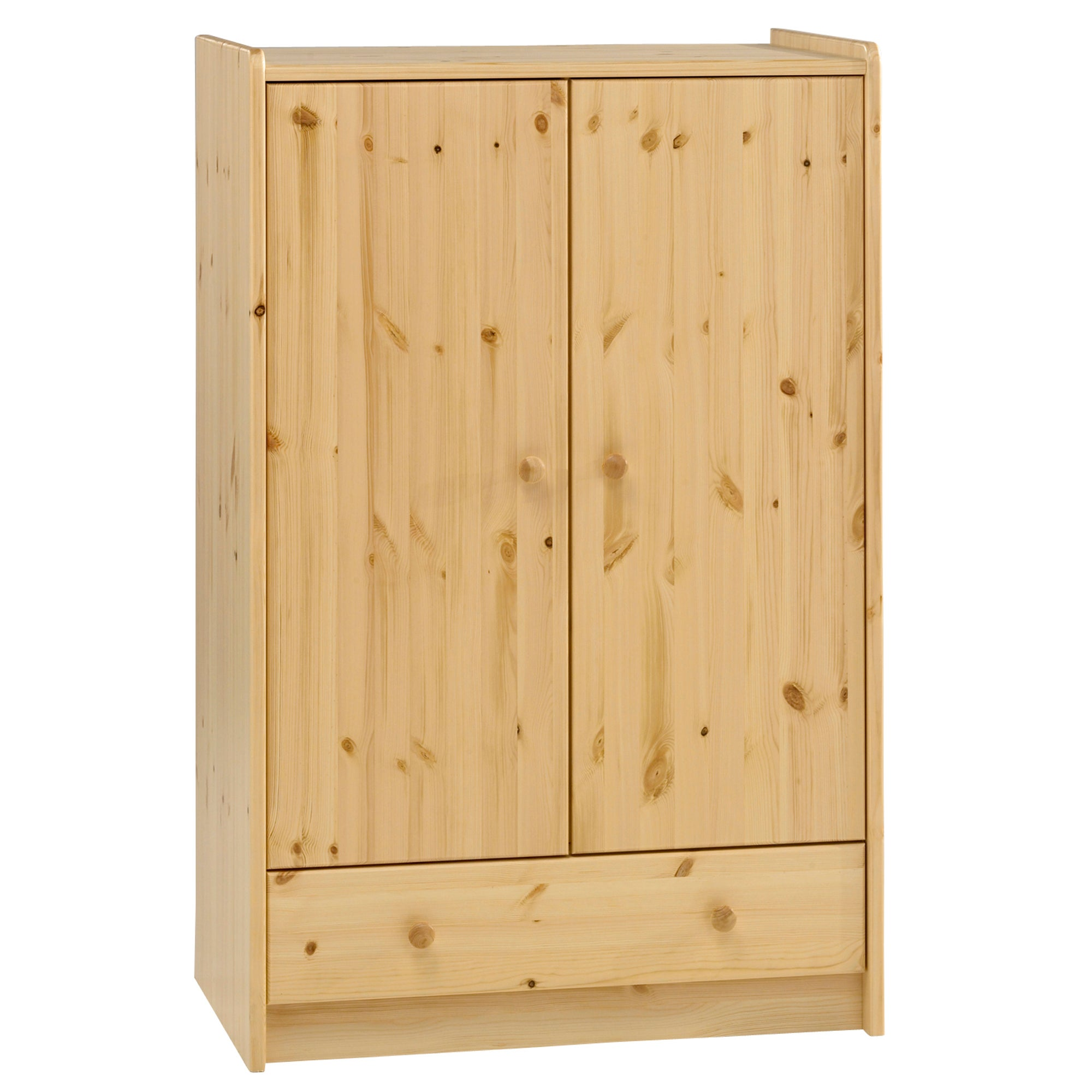 Kids Harper Pine Low Wardrobe with Drawer