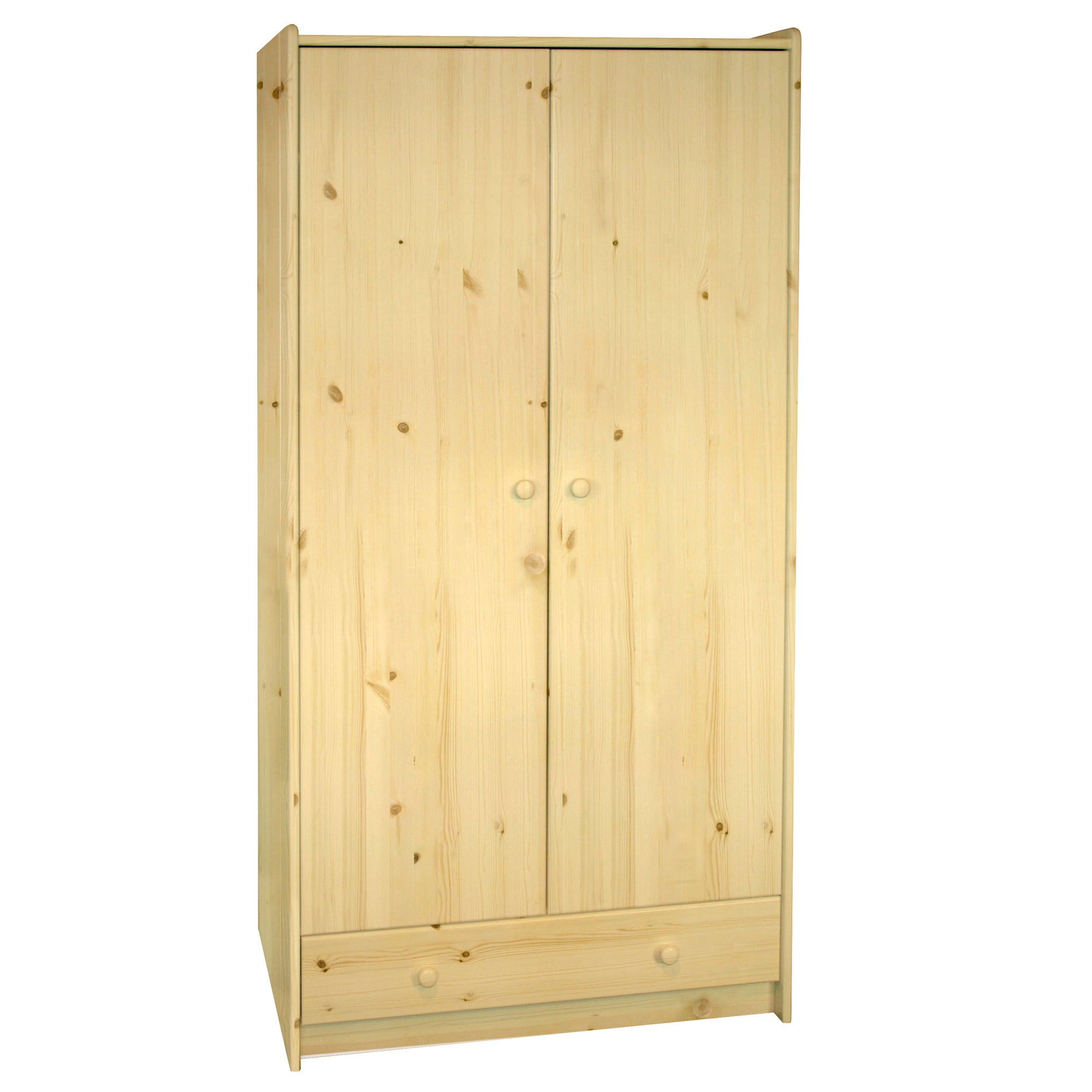 Kids Harper Pine Tall Wardrobe with Drawer