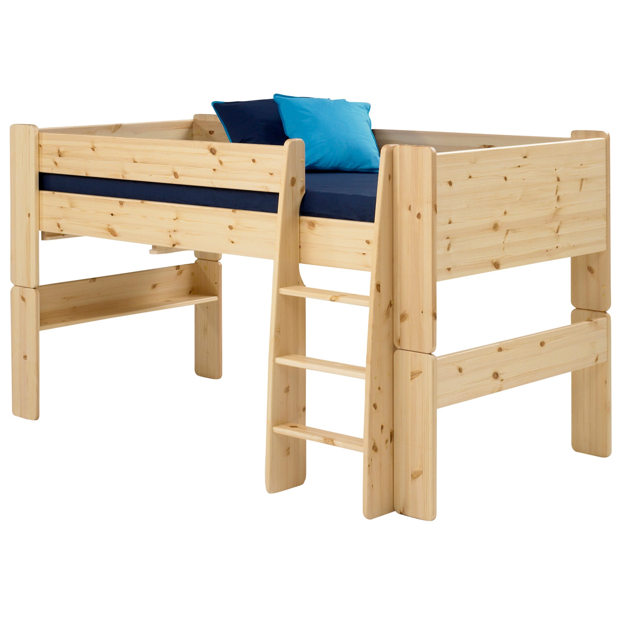 Kids Harper Pine Mid Sleeper Bed Frame