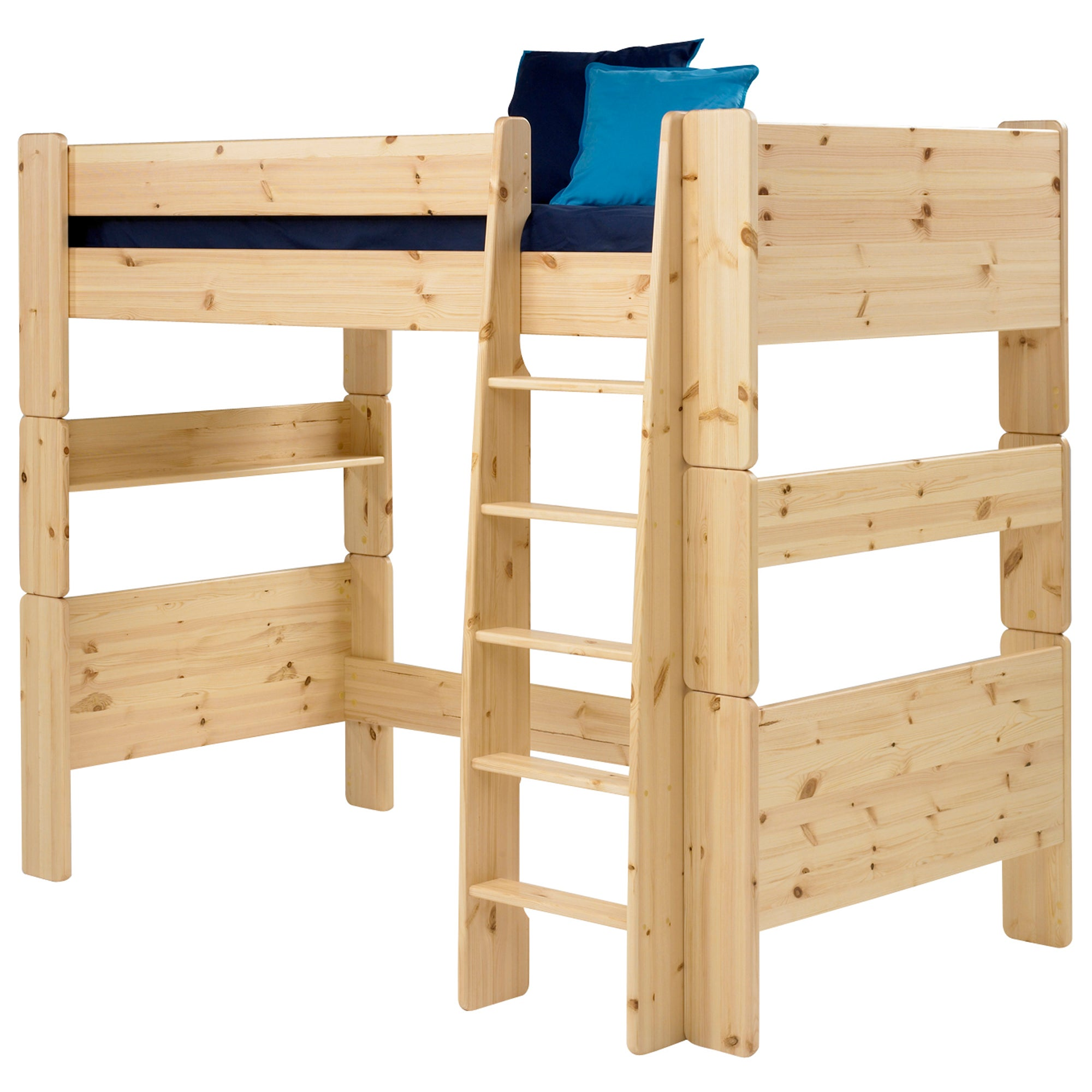 Kids Harper Pine High Sleeper Bed Frame