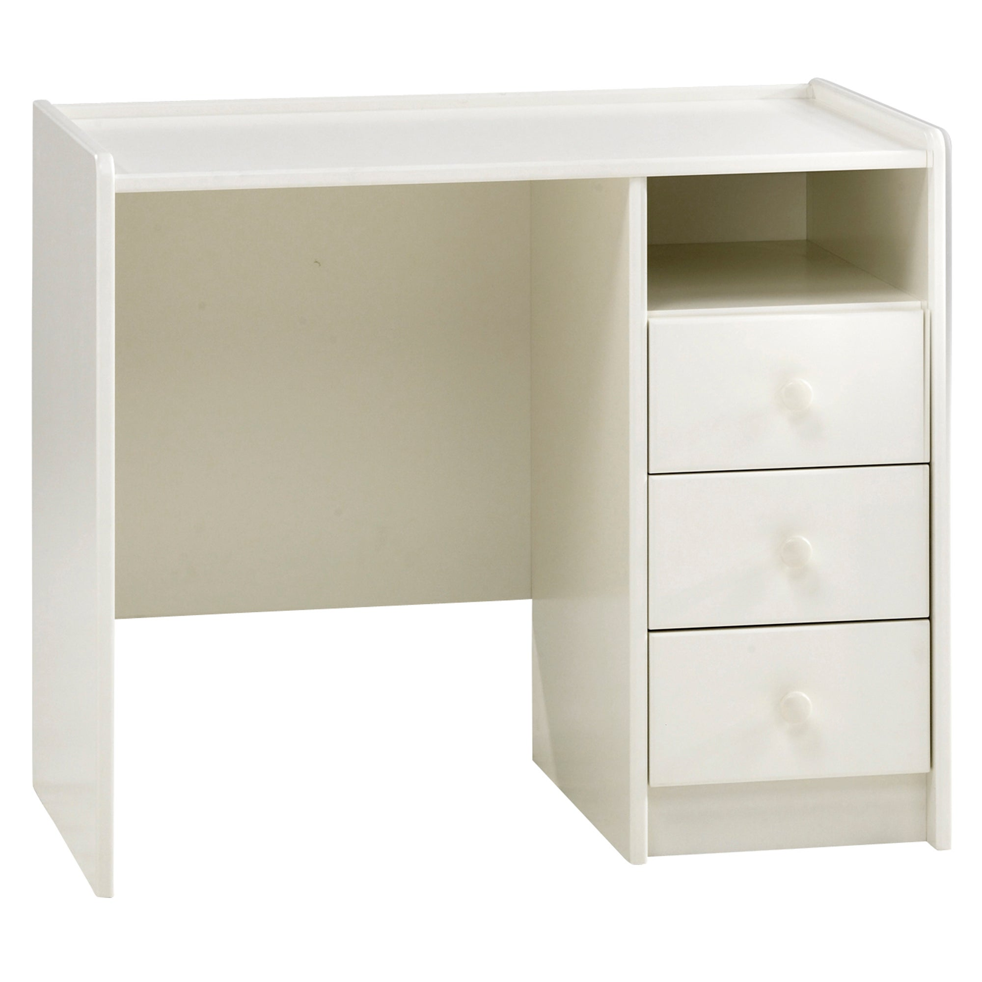 Kids Harper White 3 Drawer Desk
