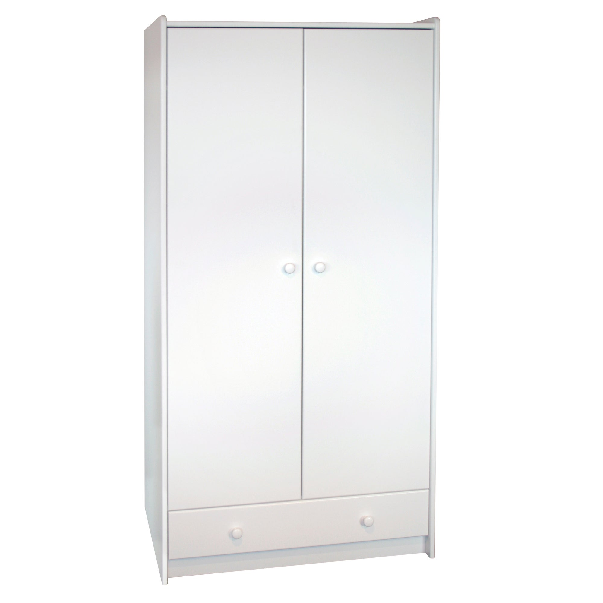 Kids Harper White Tall Wardrobe with Drawer