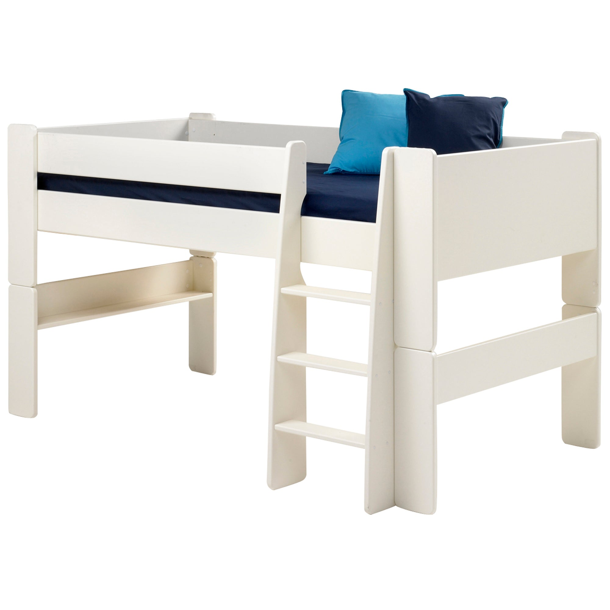 Kids Harper White Mid Sleeper Bed Frame