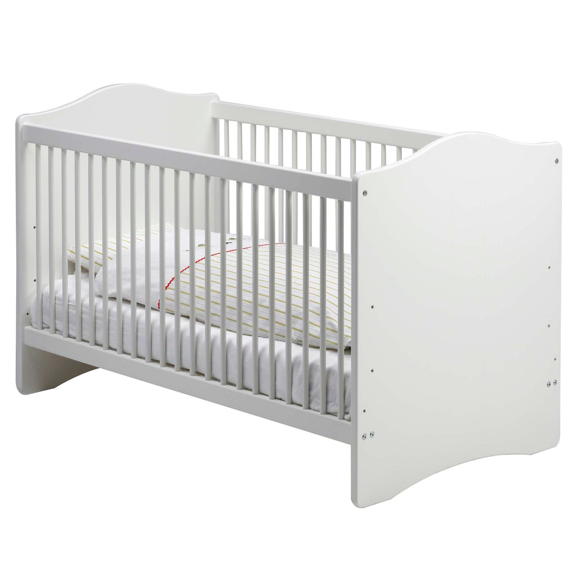 Harper White Nursery Cot Bed