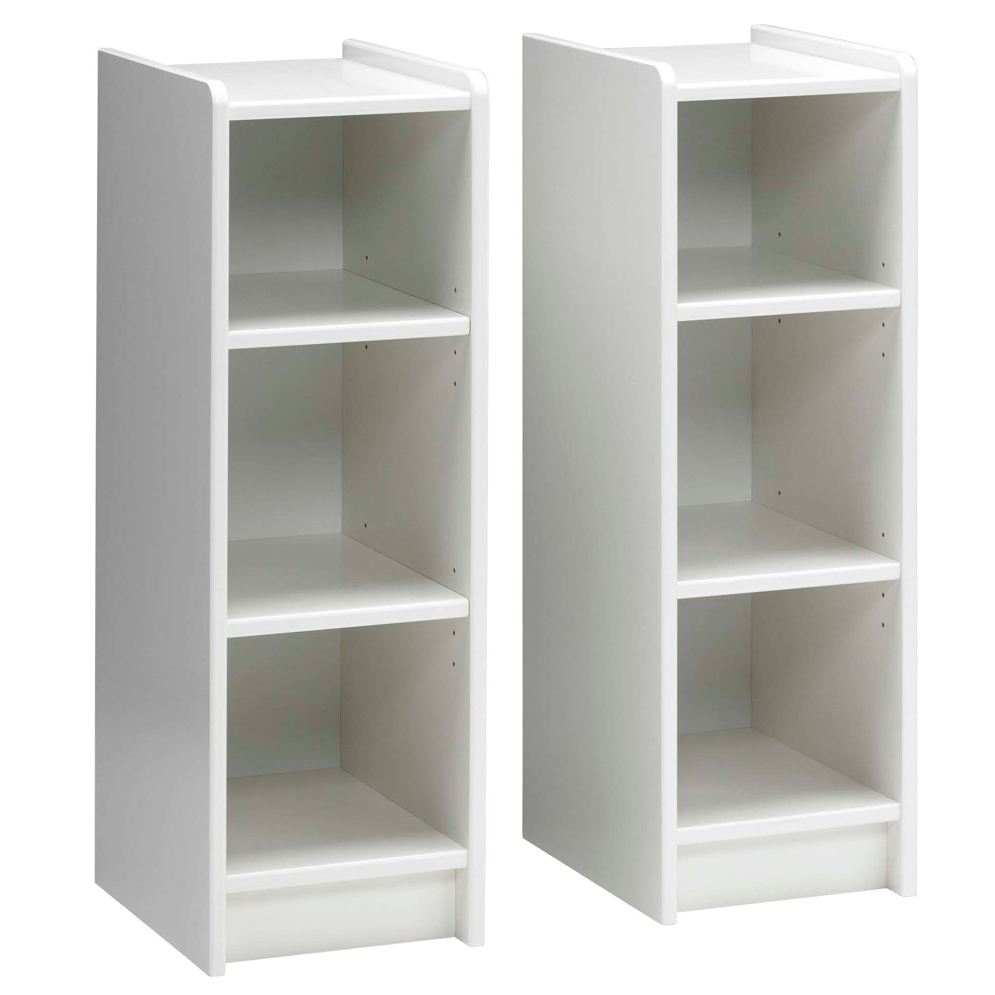 Kids Harper White 2 Bookshelves