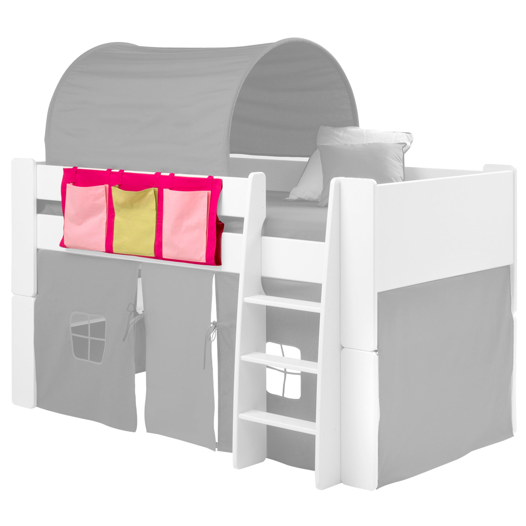Pink 3 Pocket Side Hanger for Mid-Sleeper