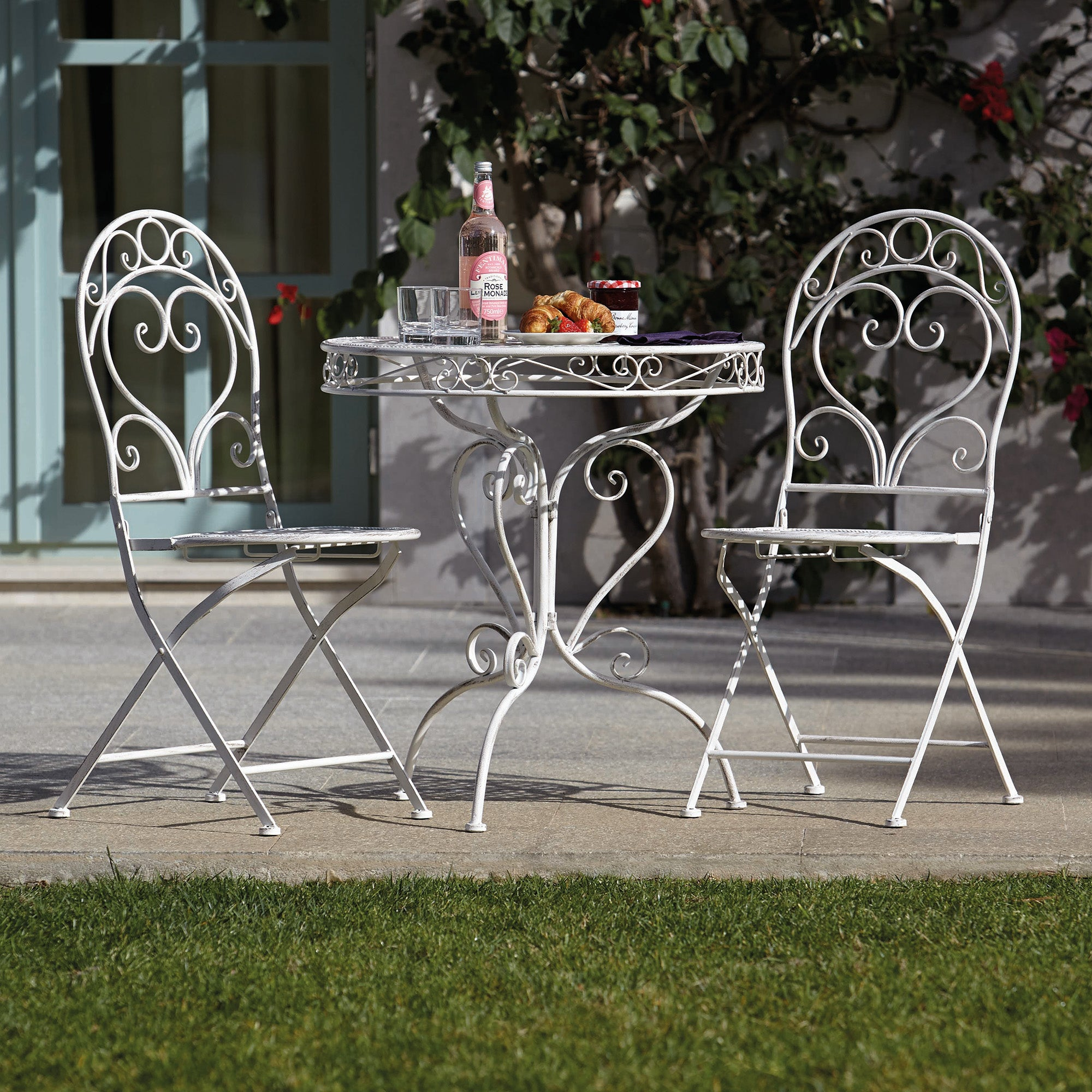 Chatsworth Cream Outdoor Bistro Table and Chair Set