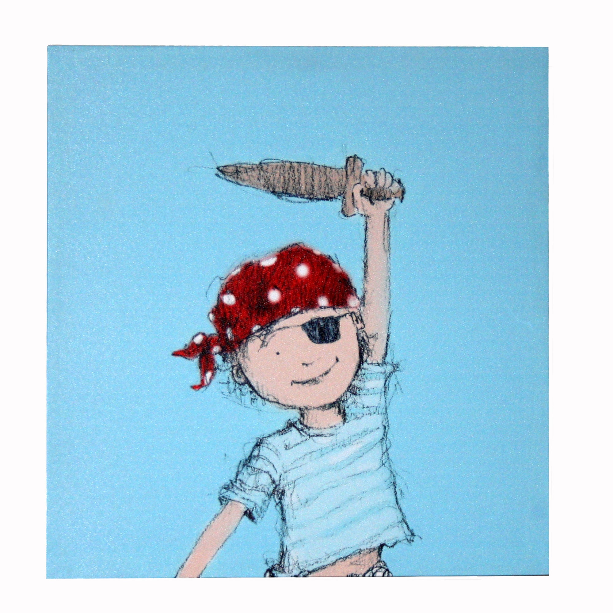 Artistic Britain Kids Little Pirate Boy Printed Canvas