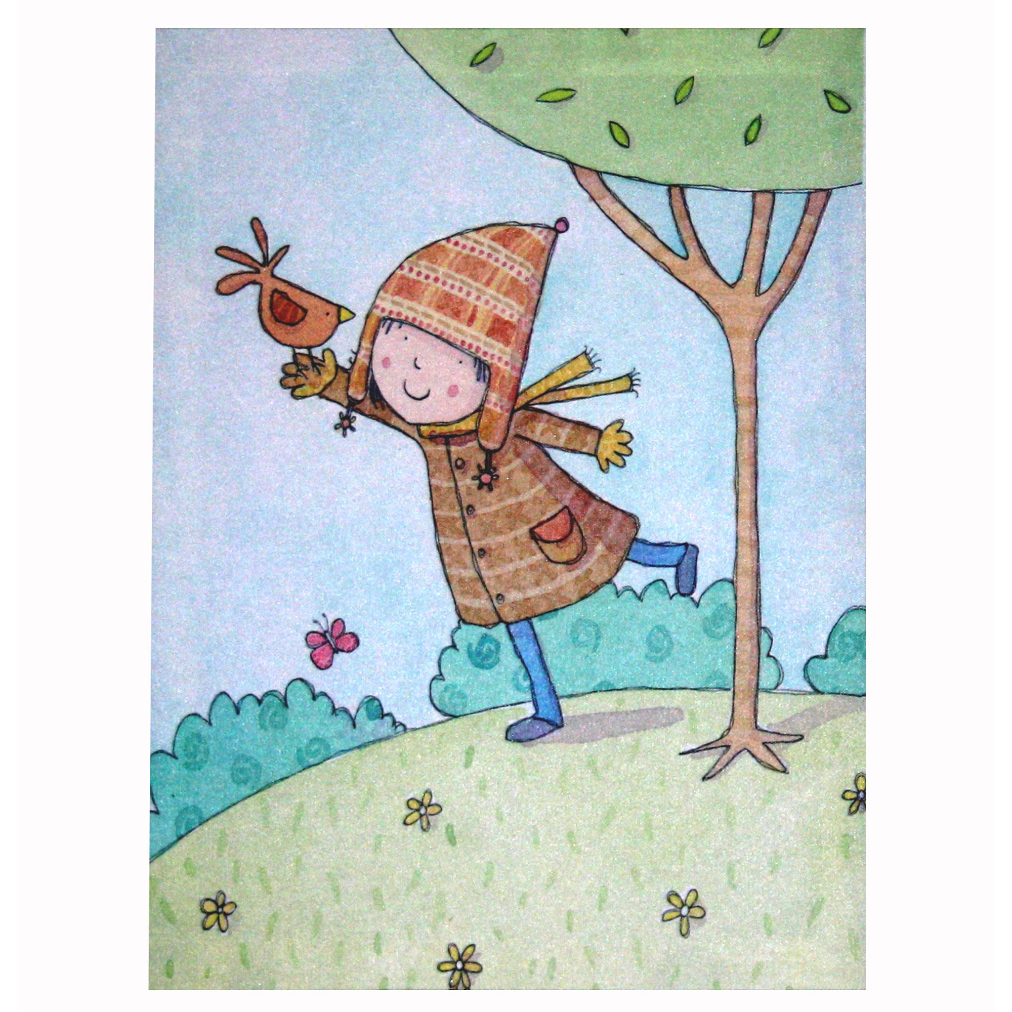 Artistic Britain Kids An Autumn Day Printed Canvas