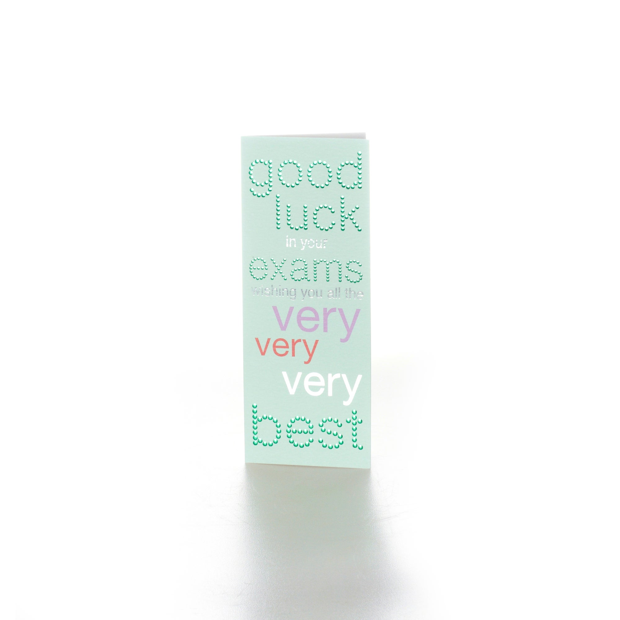 Neapolitan Exam Good Luck Card