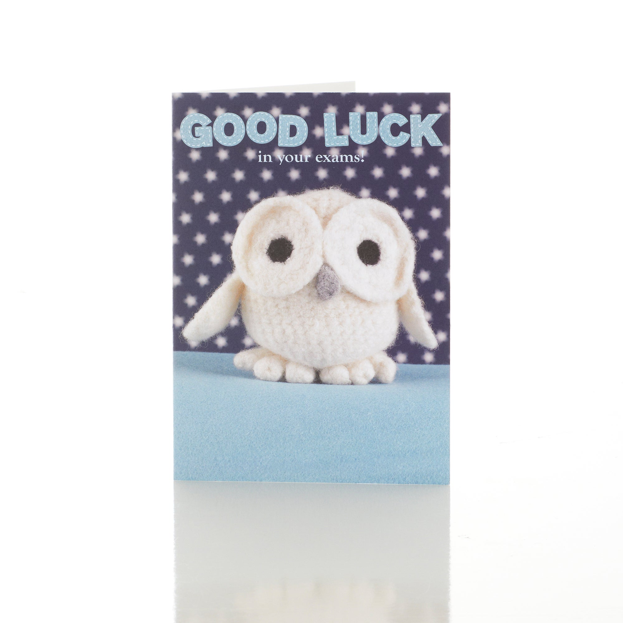 Born to Stitch Owl Good Luck Exam Card