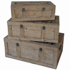 Spitalfields Set of 3 Chests