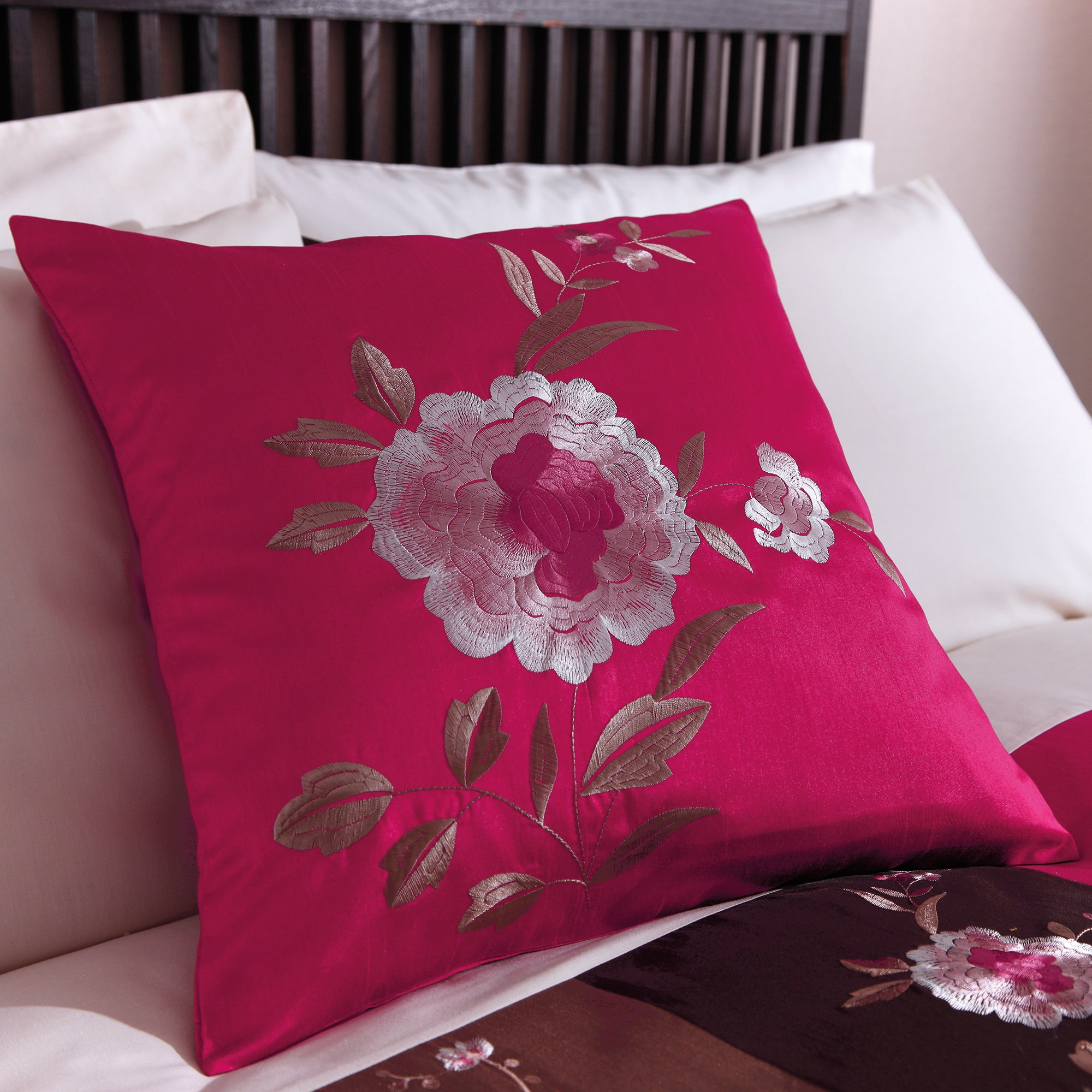 Pink Madison Patchwork Collection Cushion