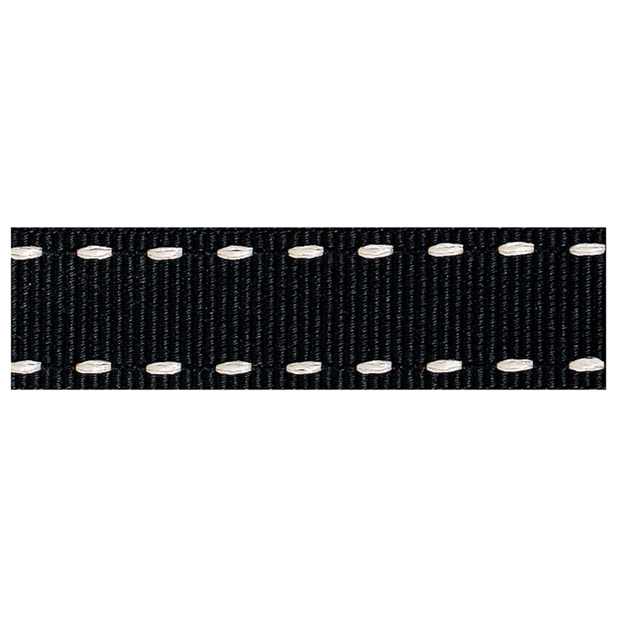 Black Stitched Grosgrain Ribbon
