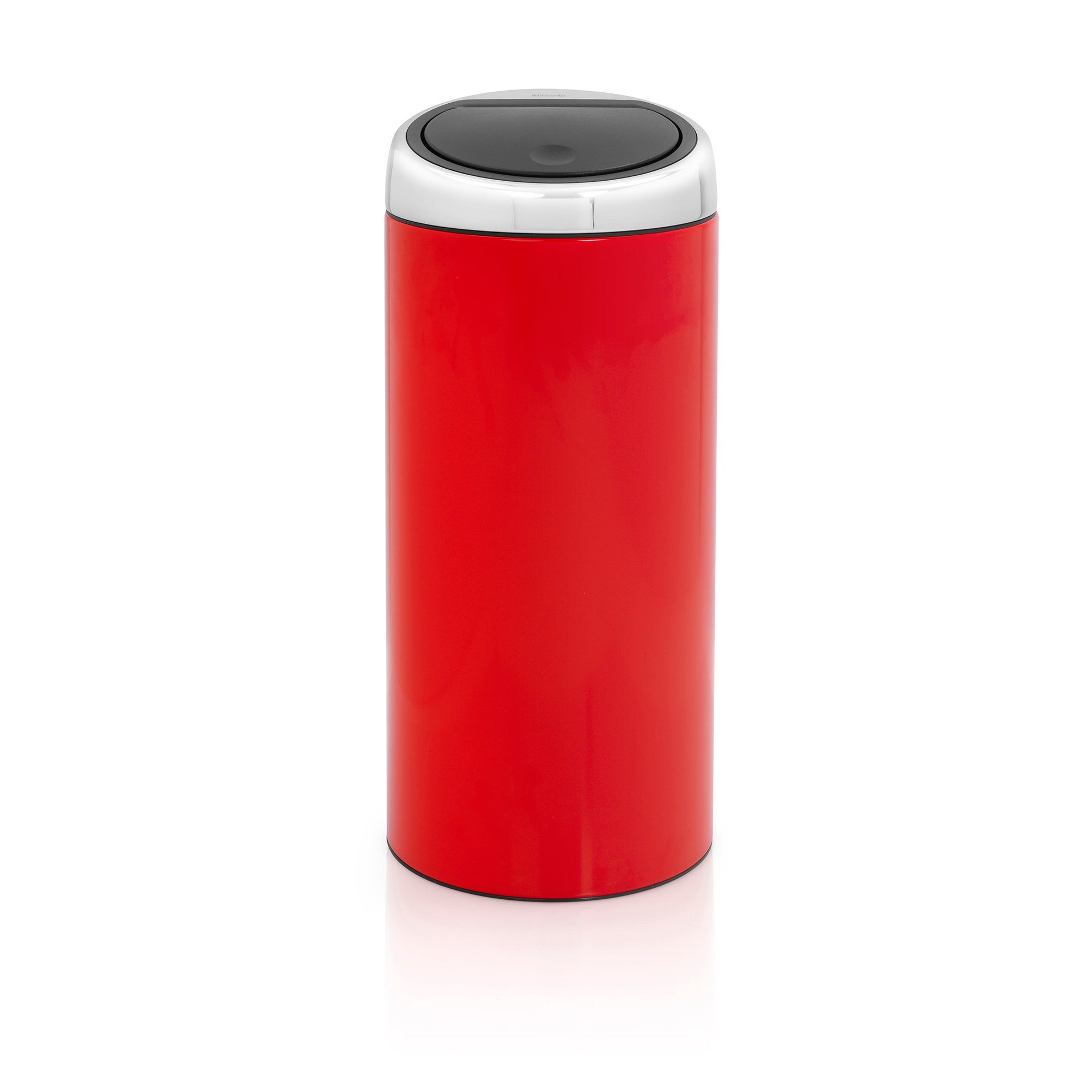 Brabantia Red 30 Litre Lacquered Steel Touch Bin